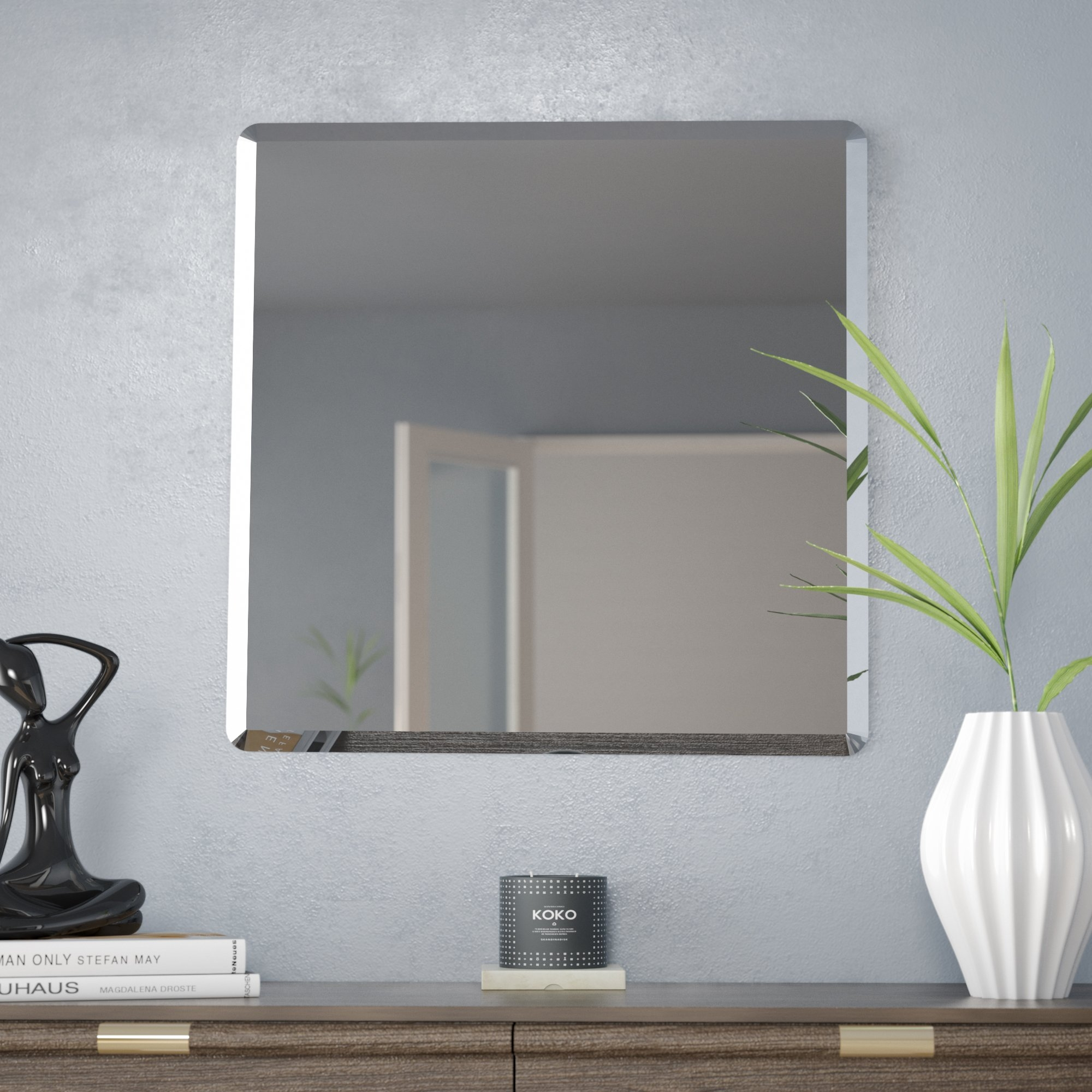 Frameless Mirrors Youll Love Wayfair In Wall Mirror Without Frame (Image 1 of 15)