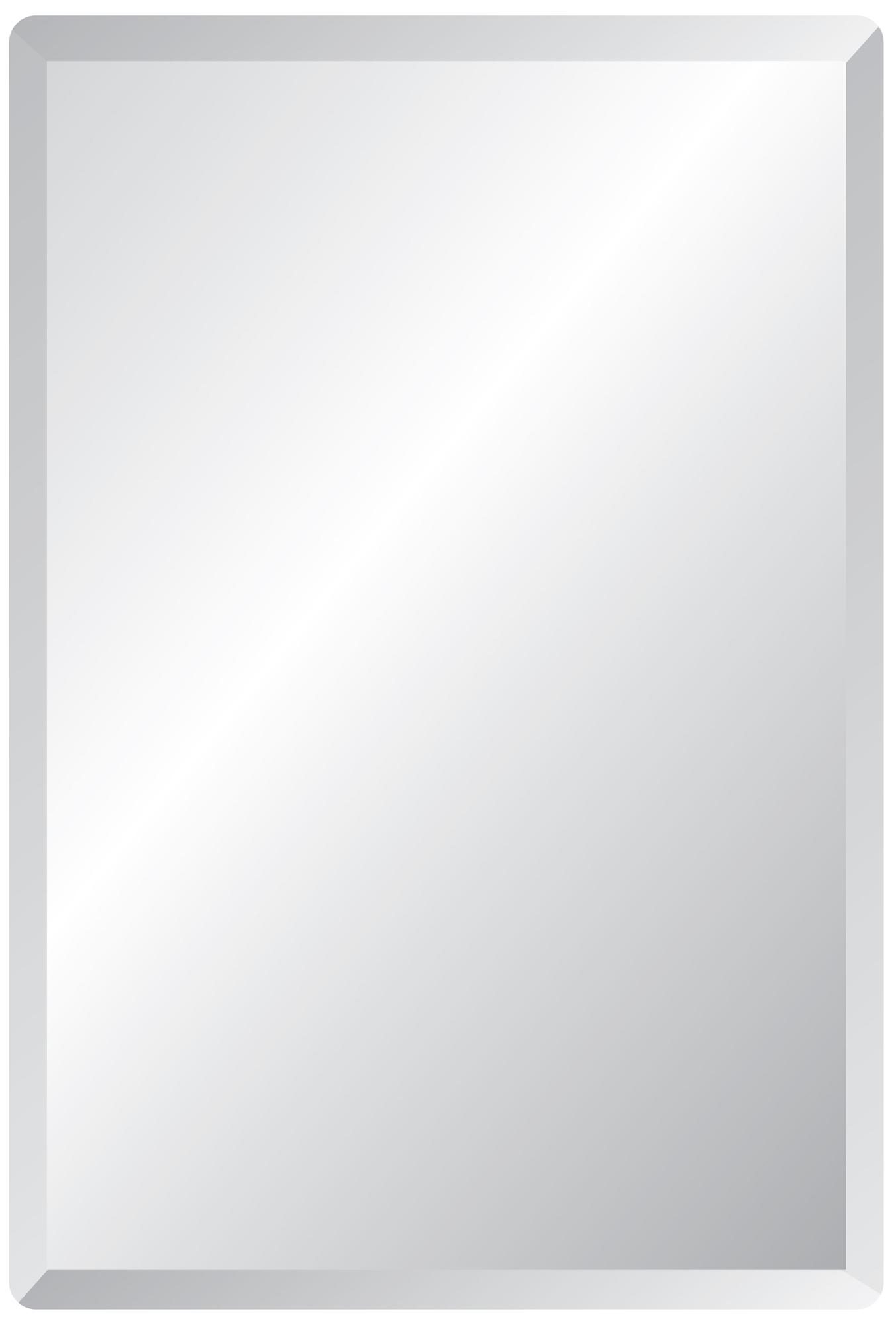 Frameless Rectangular 40 High 30 Wide Beveled Mirror Mirrors Regarding Bevelled Edge Bathroom Mirror (Image 5 of 15)