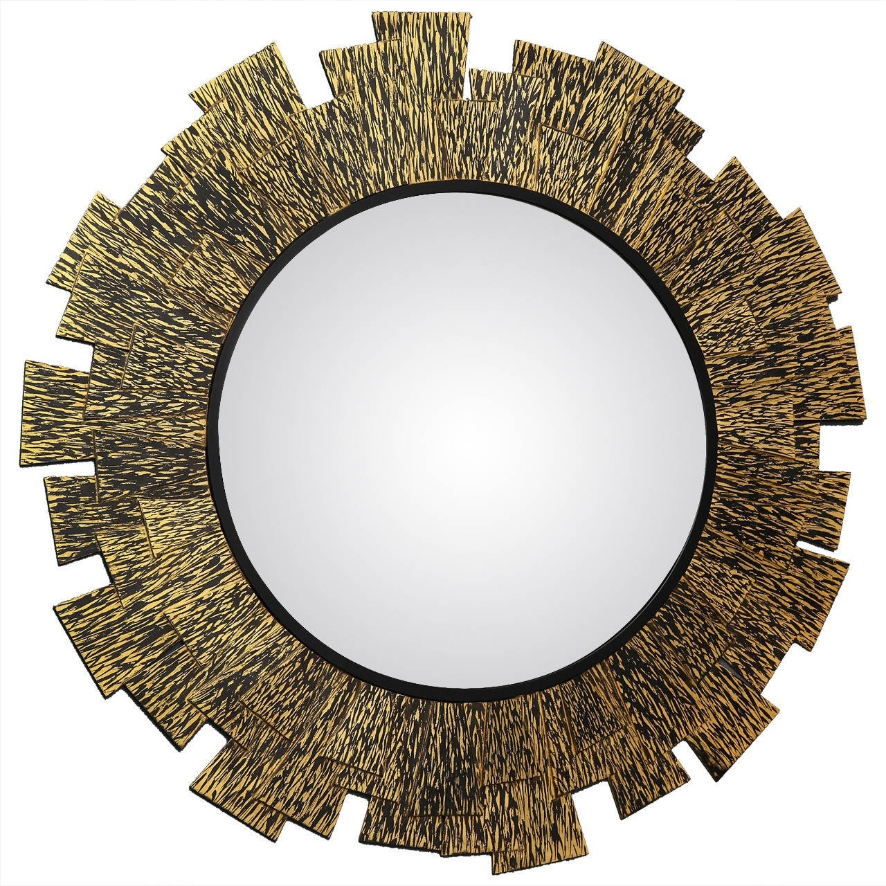 Franck Chartrain Flamme Bronze Wall Mirror France 2014 For Within Bronze Wall Mirrors (Image 2 of 15)