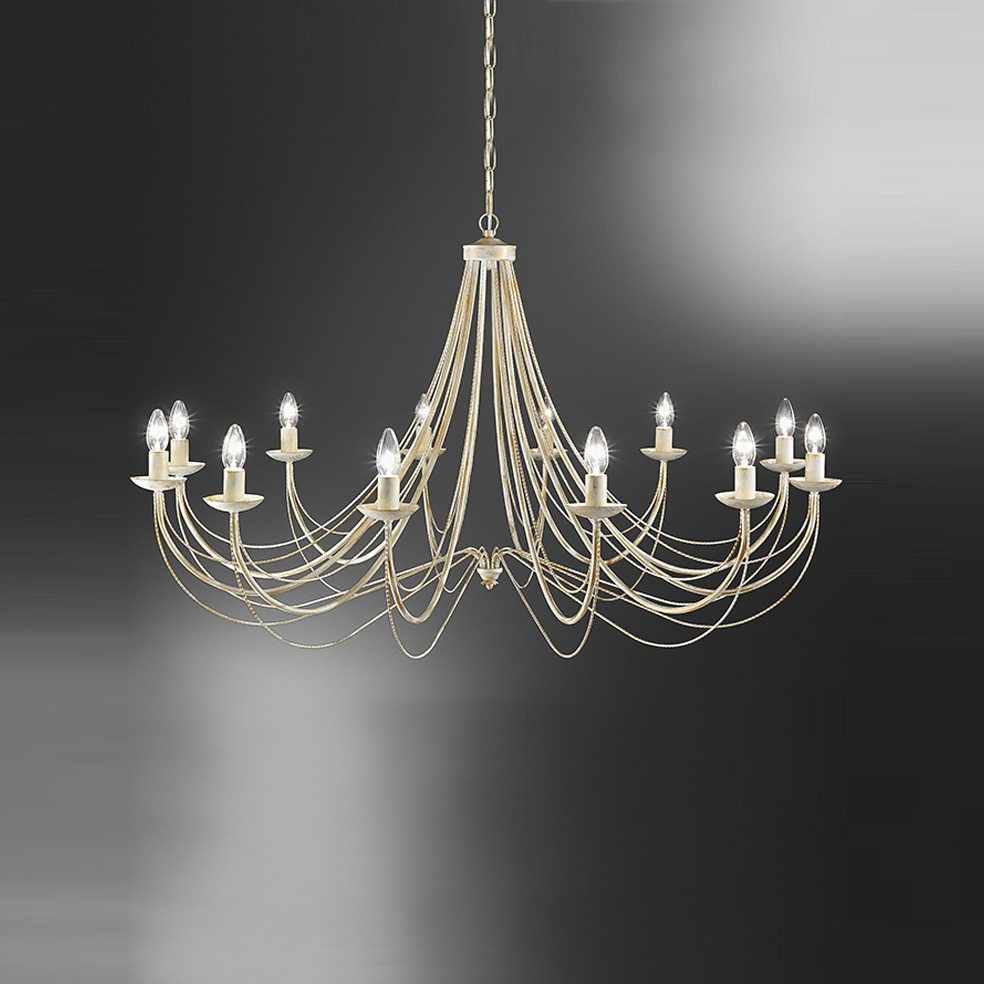 Franklite Fl217212 Philly 12 Light Cream Chandelier Regarding Cream Chandeliers (Image 10 of 15)