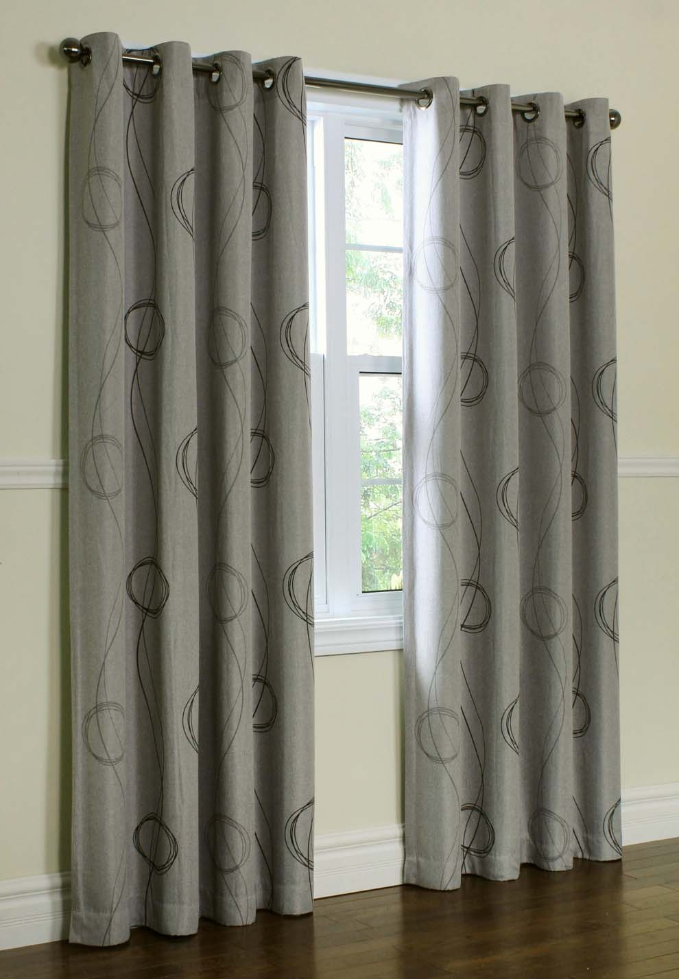 Free Fabric Samples Brook Blackout Thermal Grommet Top Curtains Throughout Thermal And Blackout Curtains (Image 12 of 15)