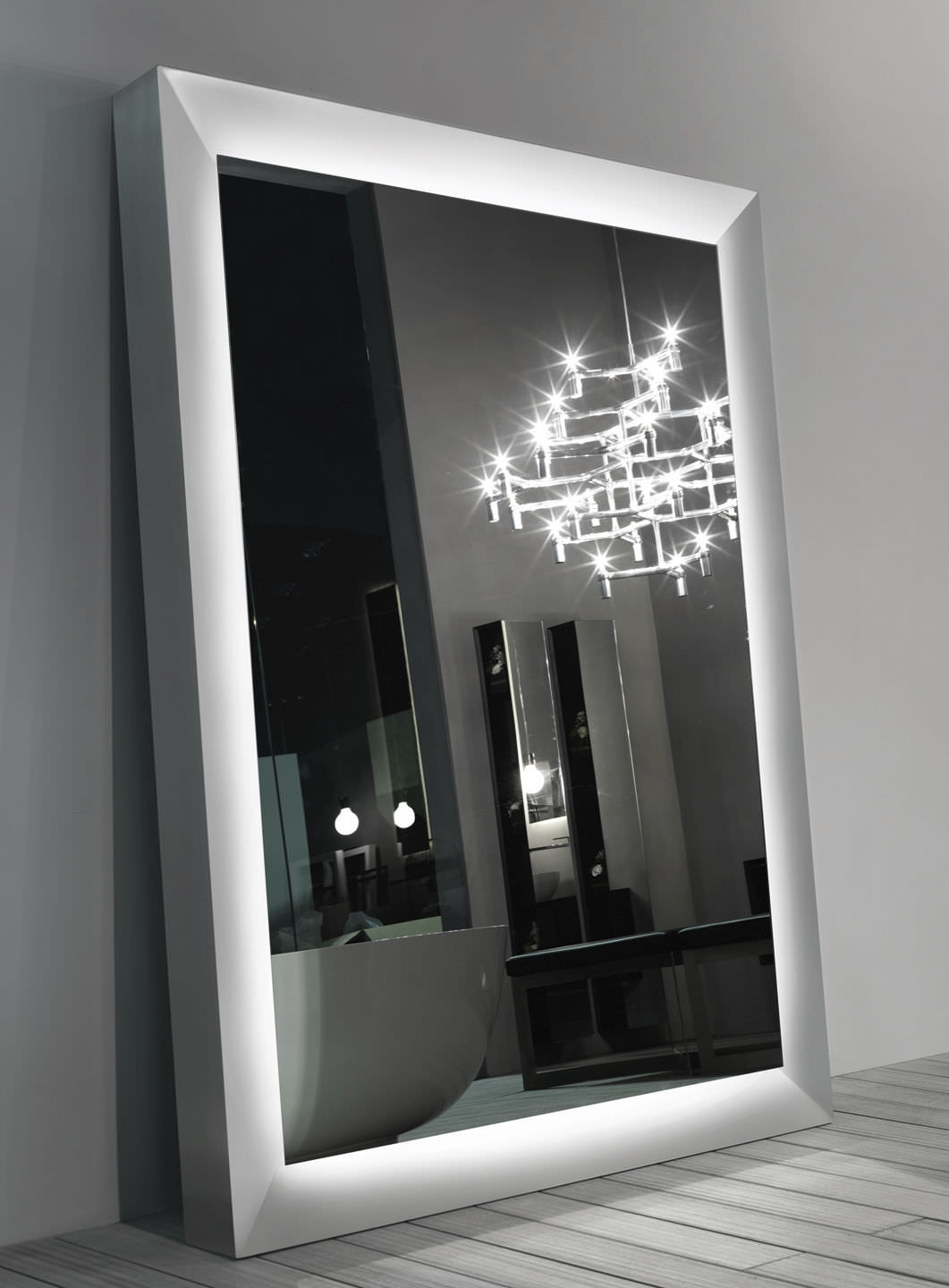 Free Standing Mirror Contemporary Square Big One Rifra Mobili With Regard To Big Standing Mirror (View 6 of 15)