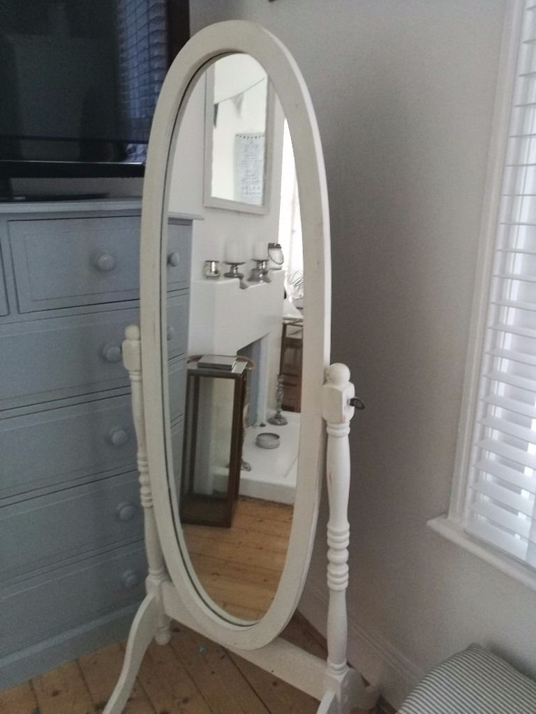 Free Standing Shab Chic Mirror In Paignton Devon Gumtree Throughout Free Standing Shabby Chic Mirror (Image 10 of 15)
