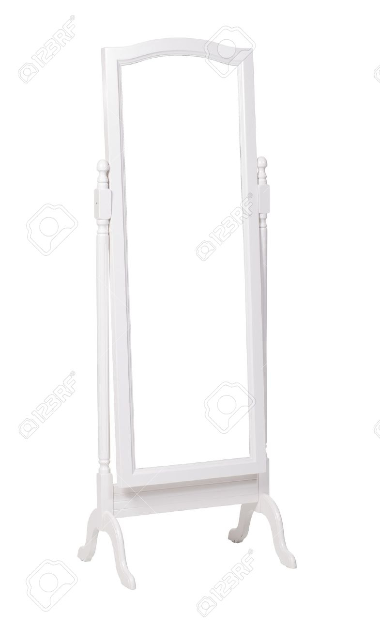 Free Standing White Mirror Full Length Mirror Design Ideas Regarding Dress Mirrors Free Standing (Image 9 of 15)