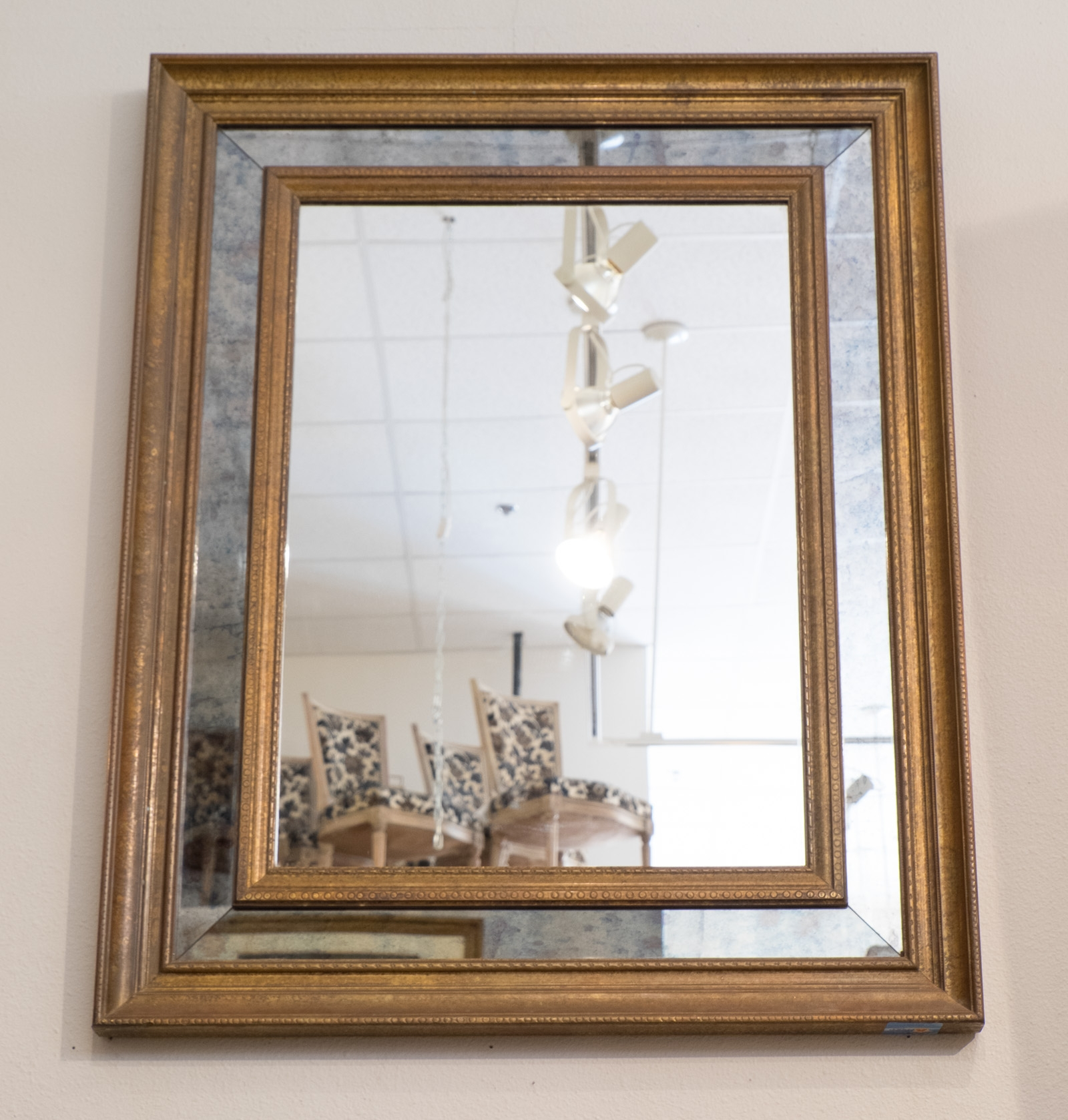 French 1950s Brass Glomis Glass Framed Mirror Jean Marc Fray With French Vintage Mirror (Image 8 of 15)