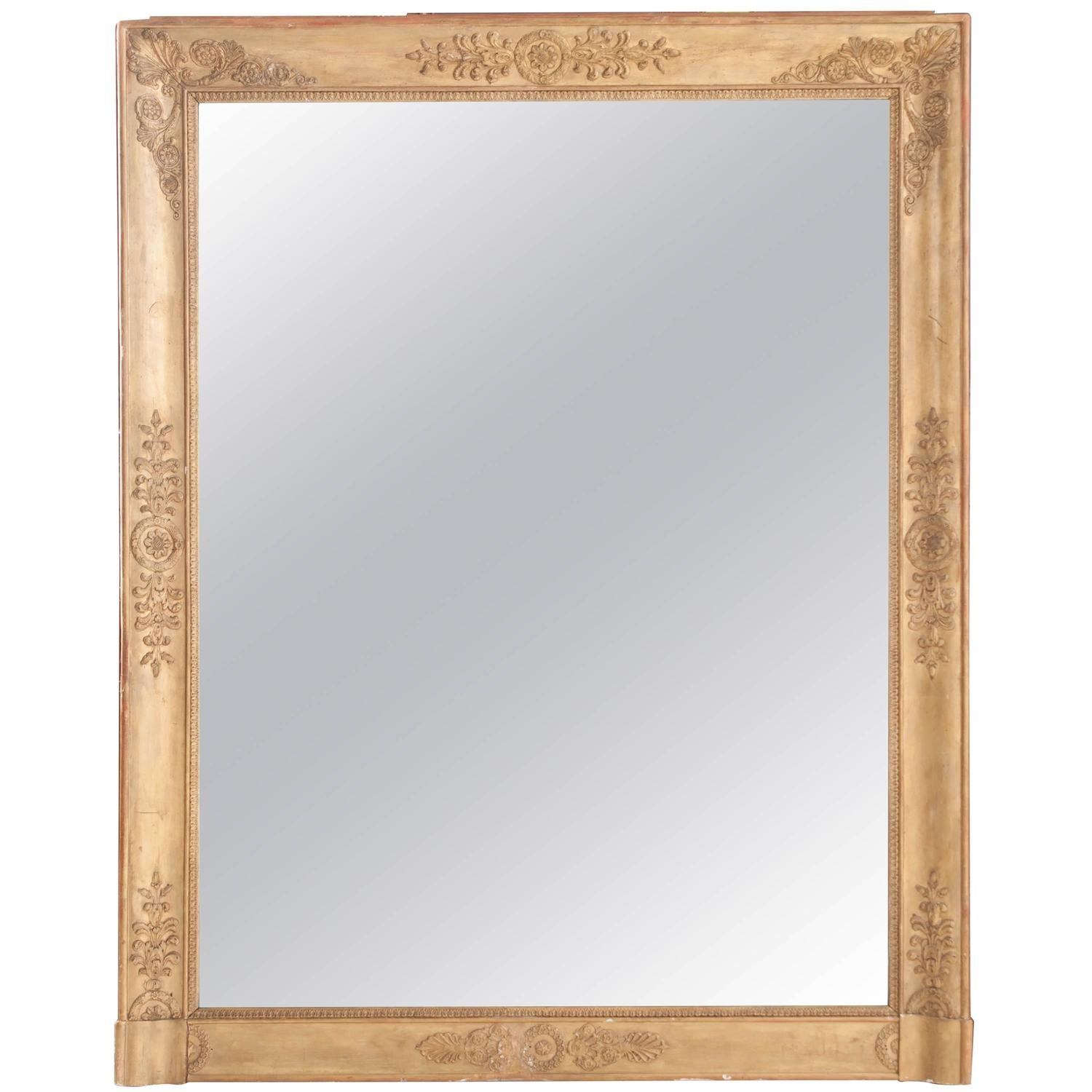 French 19th Century Empire Gold Gilt Mirror With Regard To Gold Gilt Mirrors (Image 4 of 15)