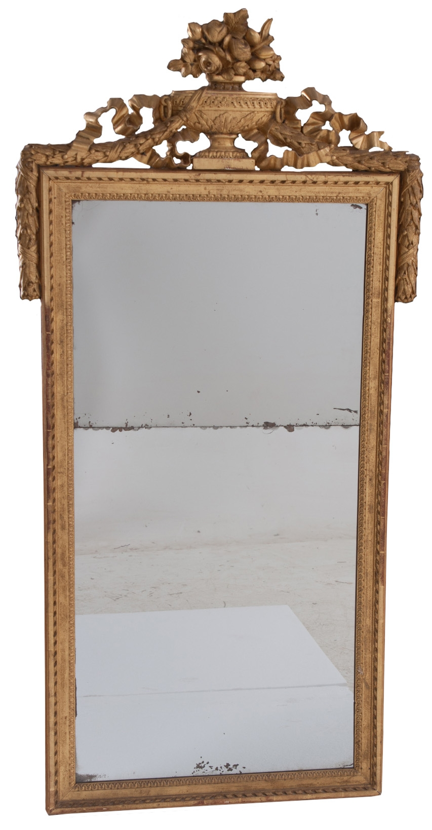 French 19th Century Gold Gilt Mirror With Urn For Gold Gilt Mirrors (Image 5 of 15)