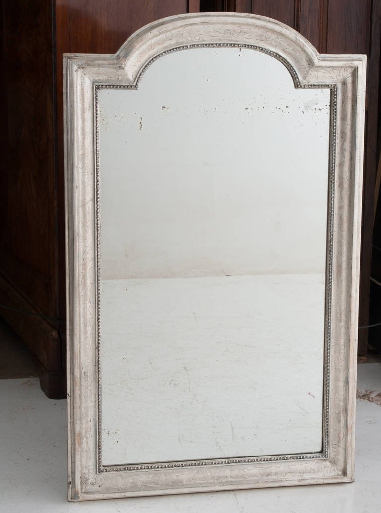 French 19th Century Louis Philippe Silver Gilt Mirror For Sale At In French Gilt Mirror (Image 9 of 15)