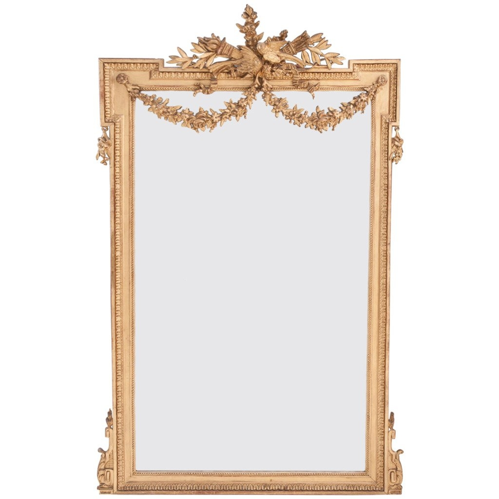 French 19th Century Louis Xvi Gold Gilt Mirror At 1stdibs Pertaining To Gilt Mirror (View 6 of 15)