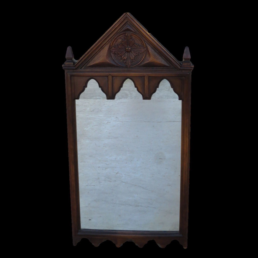 French Antique Gothic Mirror French Antique Wall Mirror Sold On Pertaining To Gothic Wall Mirror (Image 8 of 15)