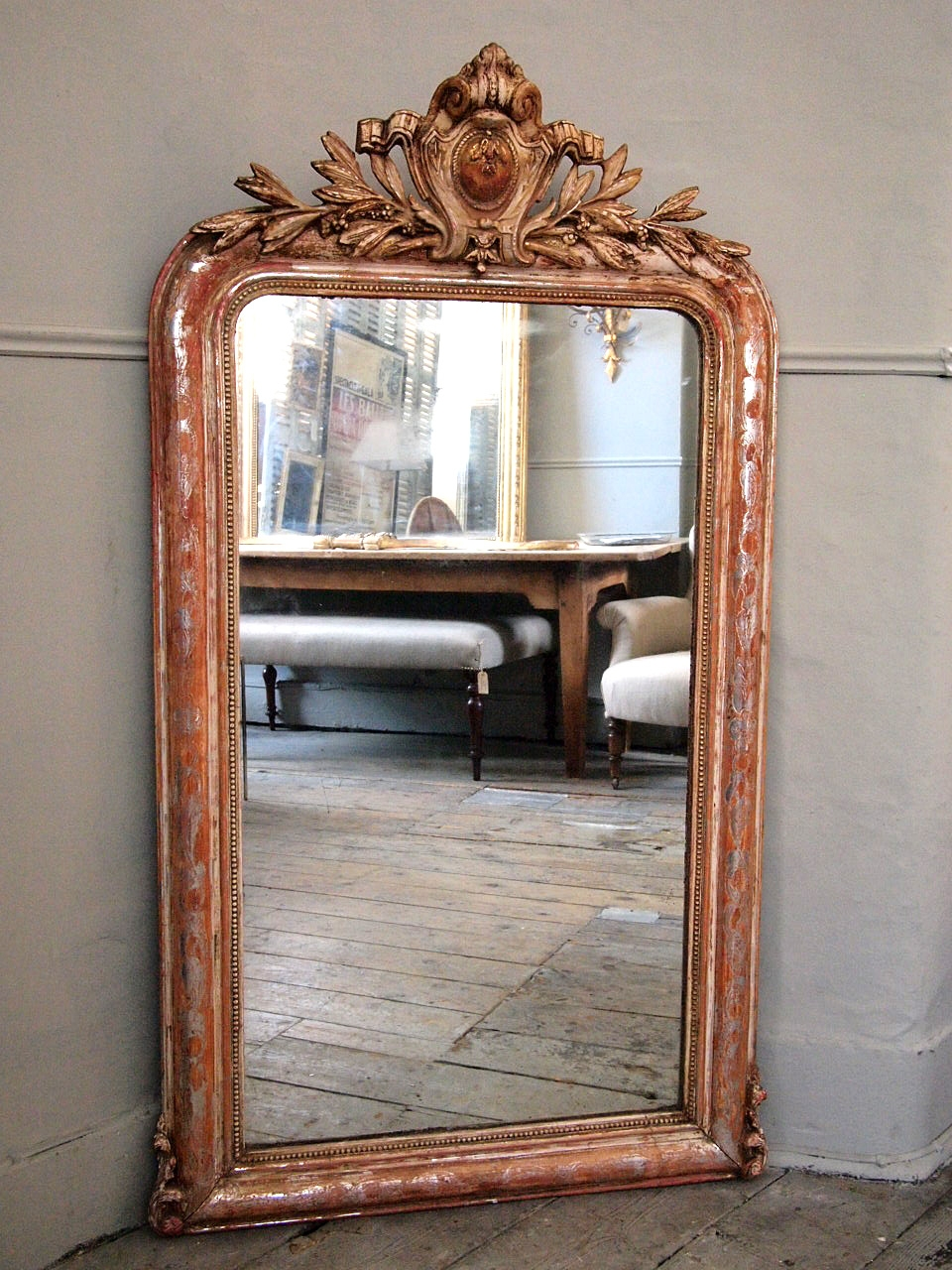 French Antique Mirror Puckhaber Decorative Antiques Intended For Old French Mirrors (Image 9 of 15)