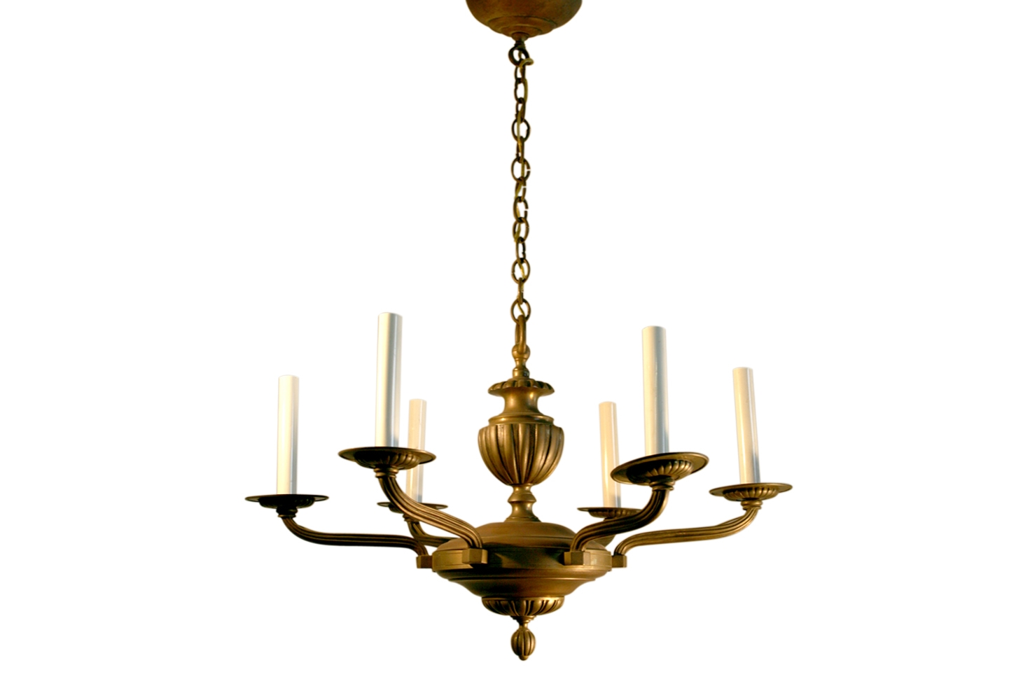French Art Deco Chandelier Bronze Rhulmann Style Omero Home With Regard To French Bronze Chandelier (Image 10 of 15)