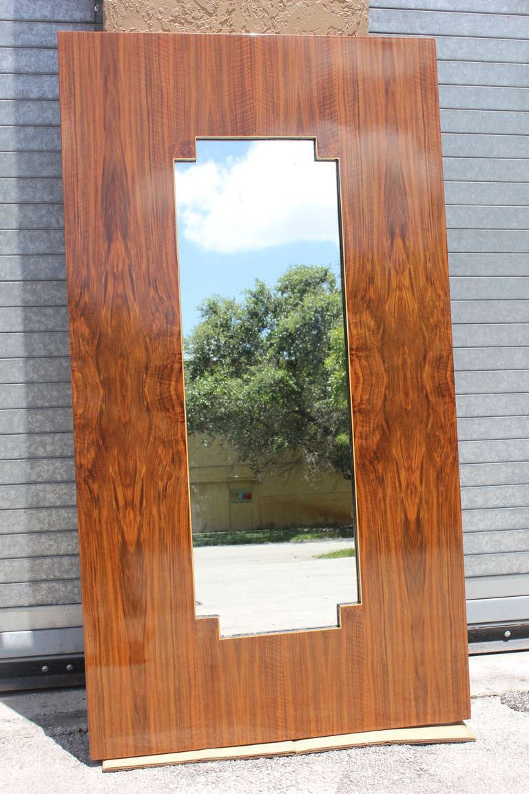 French Art Deco Exotic Walnut Full Length Mirror At 1stdibs Inside Art Deco Full Length Mirror (View 13 of 15)