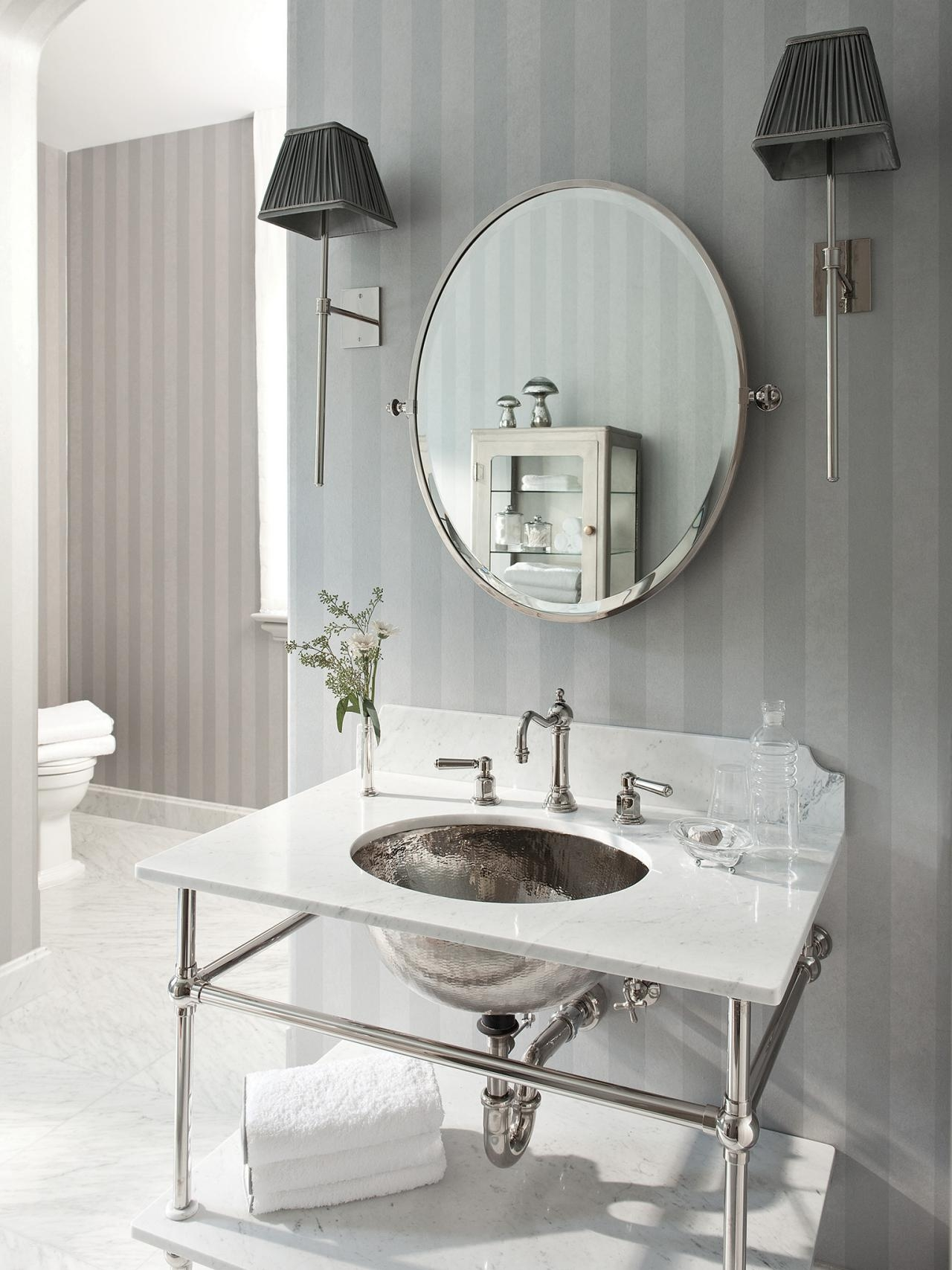 French Country Bathroom Mirrors Home Within French Style Bathroom Mirror (Image 8 of 15)