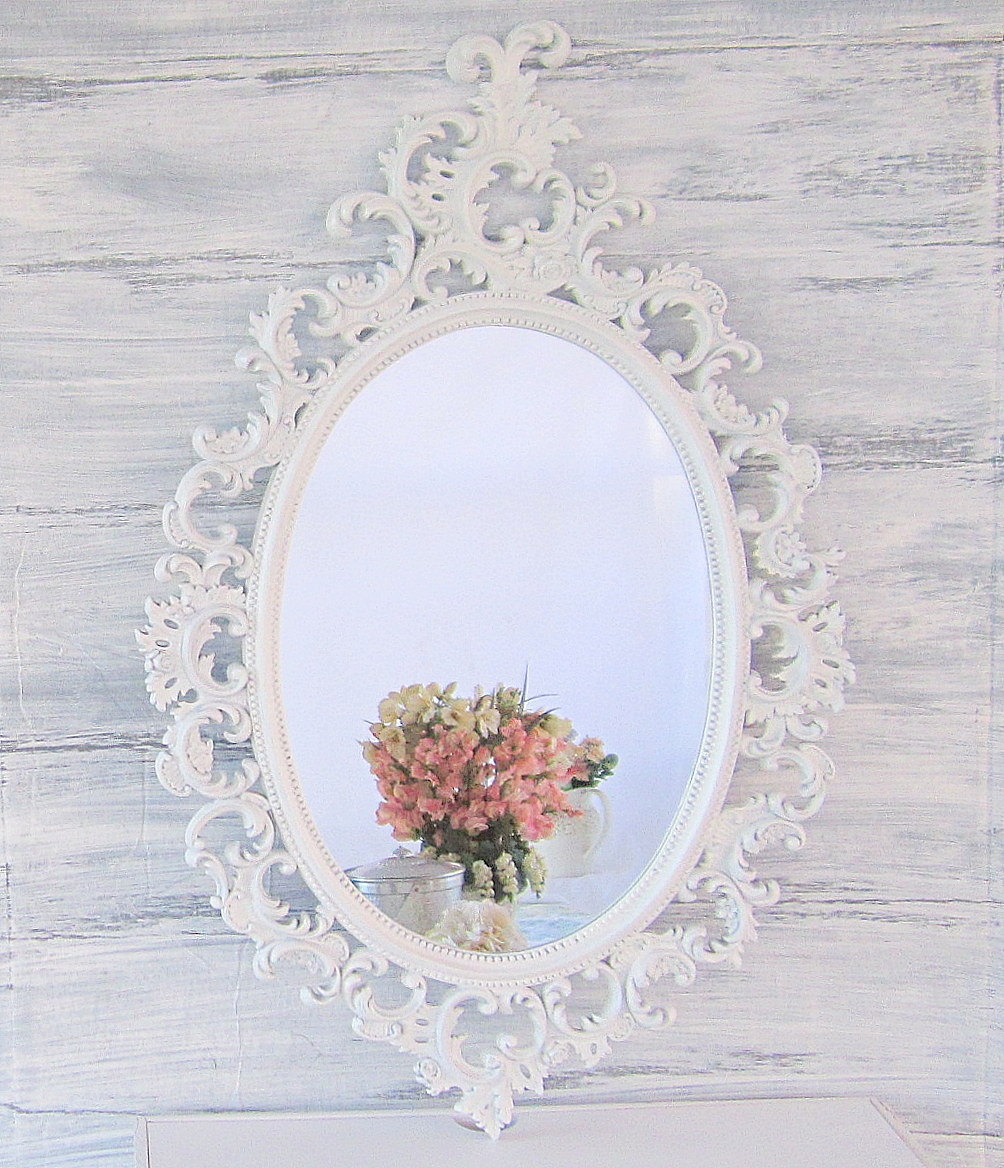 French Country Mirrors For Sale Shab Chic Mirror Oval Ornate Intended For Shabby Chic Mirrors For Sale (Image 5 of 15)