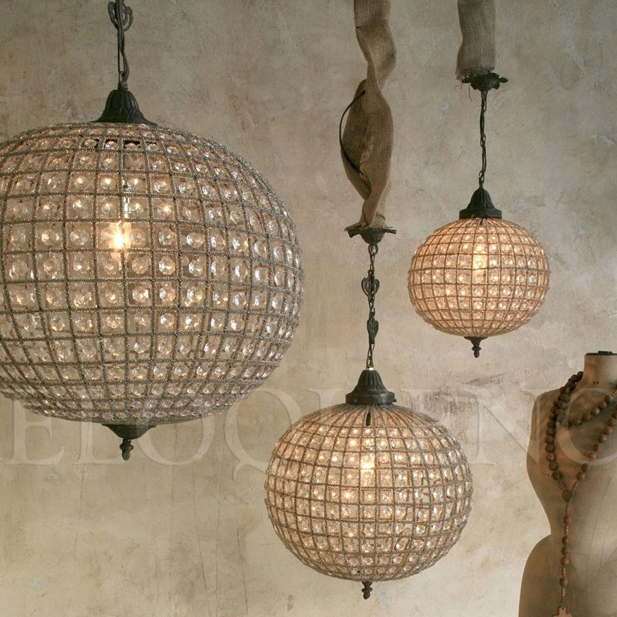 French Country Shab Chic Chandeliers Lighting For Your Home With Globe Chandeliers (Image 8 of 15)