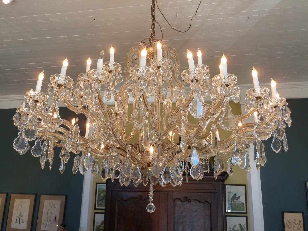 French Crystal Chandelier 1940s Omero Home Throughout French Chandelier (Image 12 of 15)