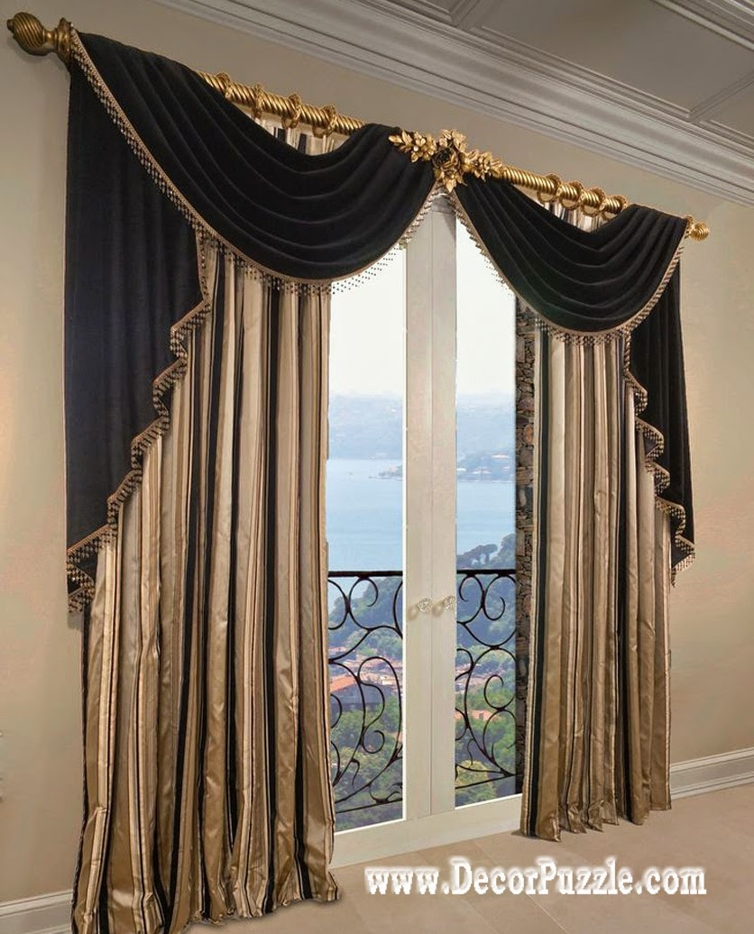 French Curtains Ideas Modern Luxury Curtains Black Scarf With Luxury Curtains (Image 6 of 15)