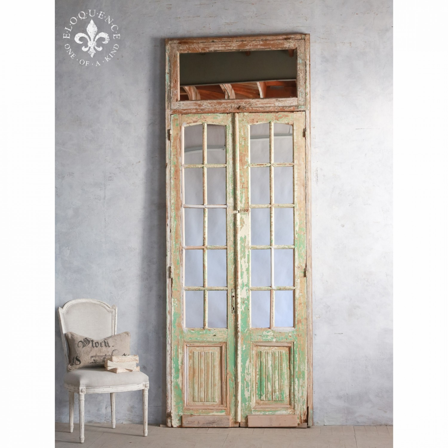 French Doors The Real Inspector Hound Pinterest French Inside Distressed Cream Mirror (Image 11 of 15)