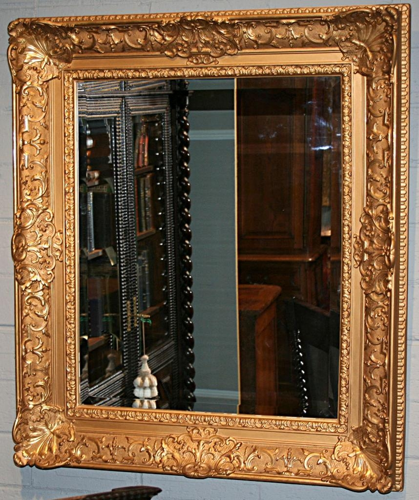 French Gilt Framed Mirror From Antiquing With Pamela On Ru Lane Inside Large Gilt Framed Mirror (Image 7 of 15)