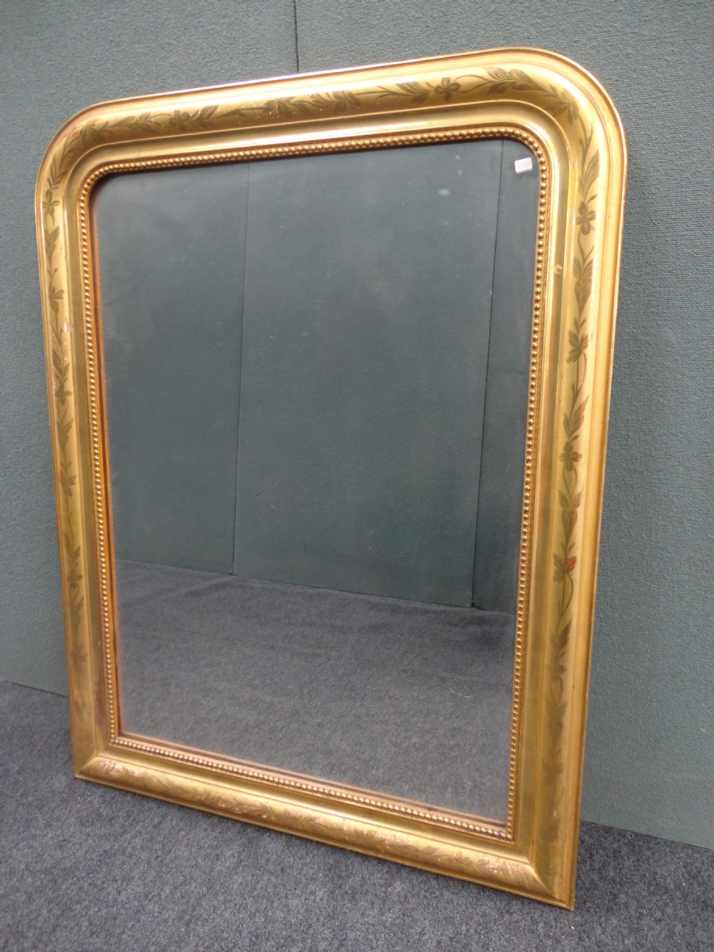 French Gilt Louis Philippe Style Overmantle Mirror 288591 For French Mirrors Reproduction (Image 8 of 15)
