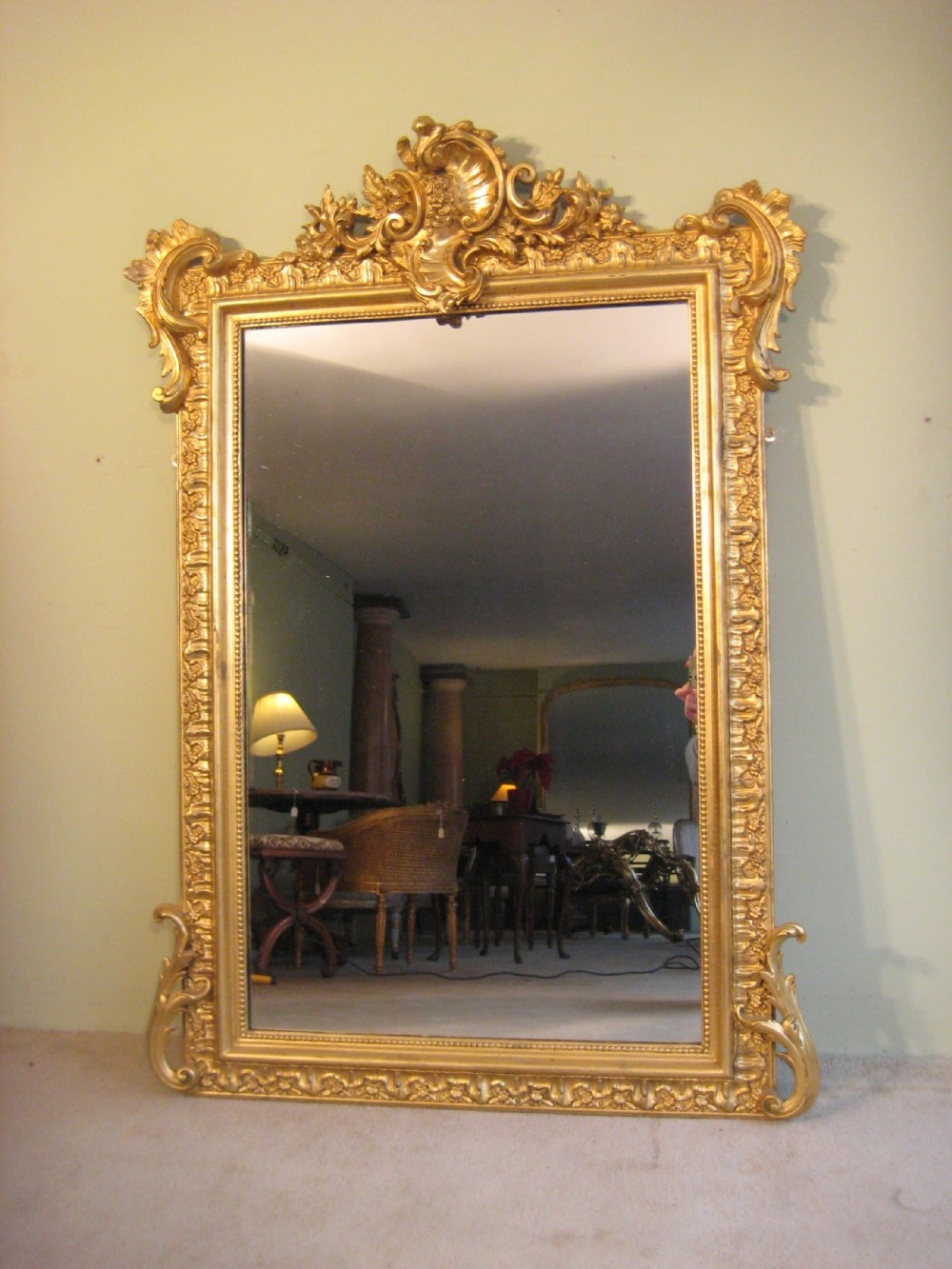 French Gilt Mirror 266386 Sellingantiquescouk With Gilt Mirrors (Image 4 of 15)