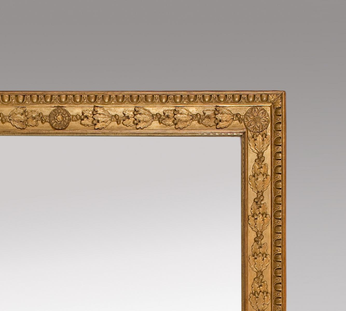 French Gilt Mirrors With Oak Leaves And Rosettes Set Of 2 For Throughout Gilt Mirrors (Image 6 of 15)