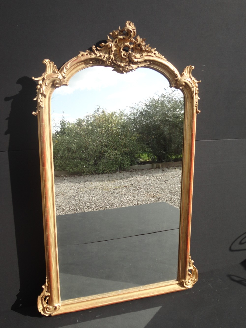 French Gilt Overmantle Mirror 253052 Sellingantiquescouk Intended For French Gilt Mirror (View 12 of 15)