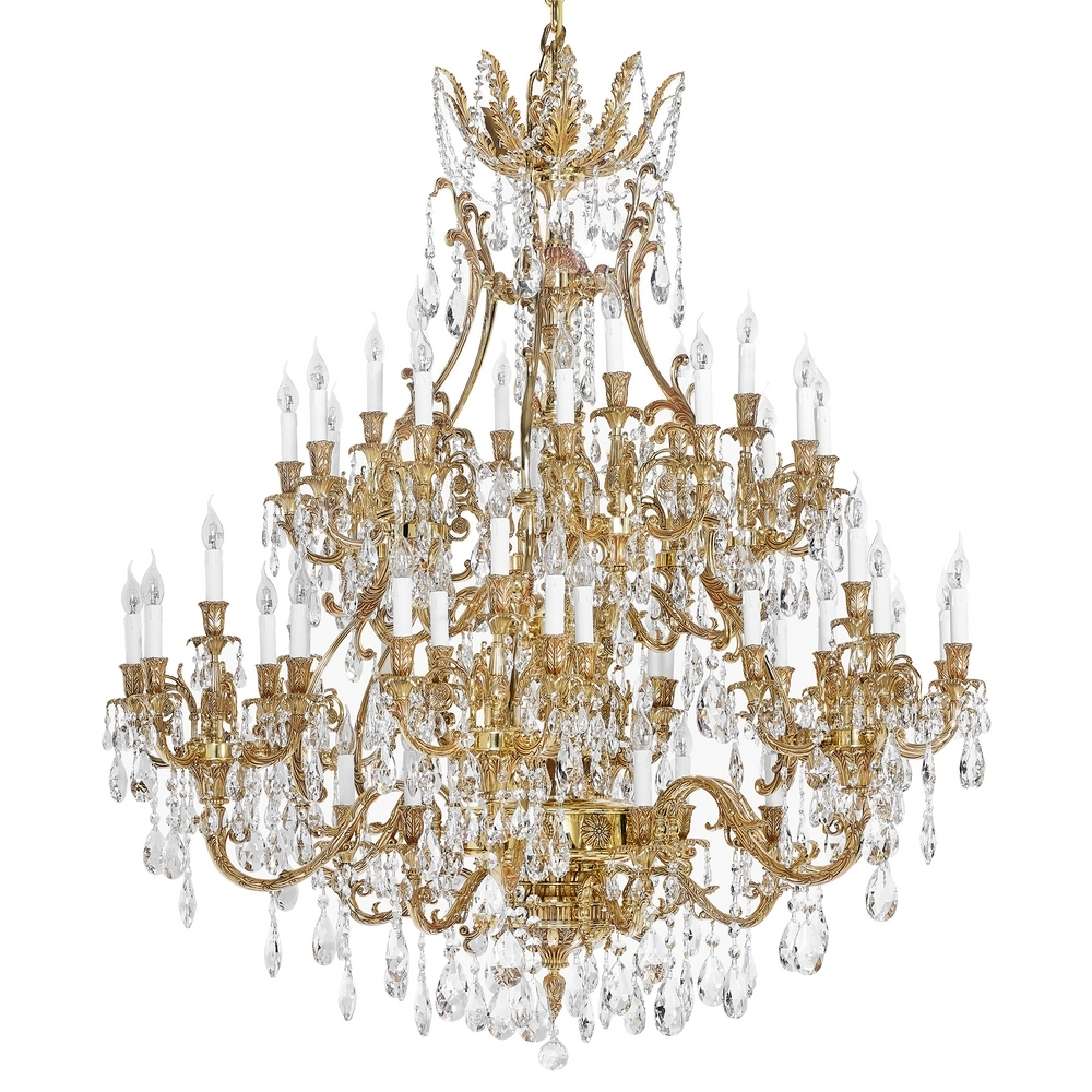 French Gold Chandelier With Scholer Crystal Collection 792 Throughout French Gold Chandelier (Image 6 of 14)