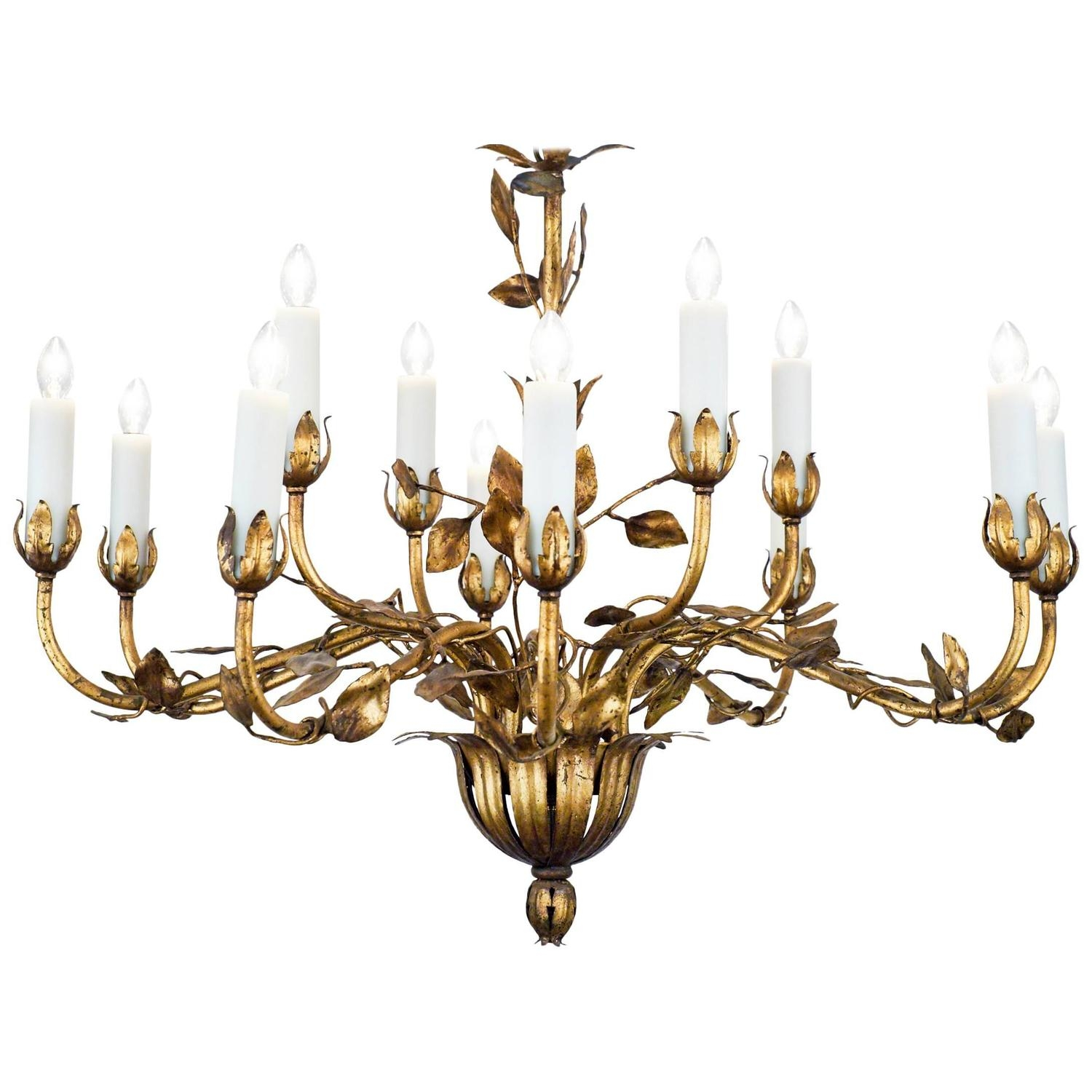 Featured Image of Gold Leaf Chandelier