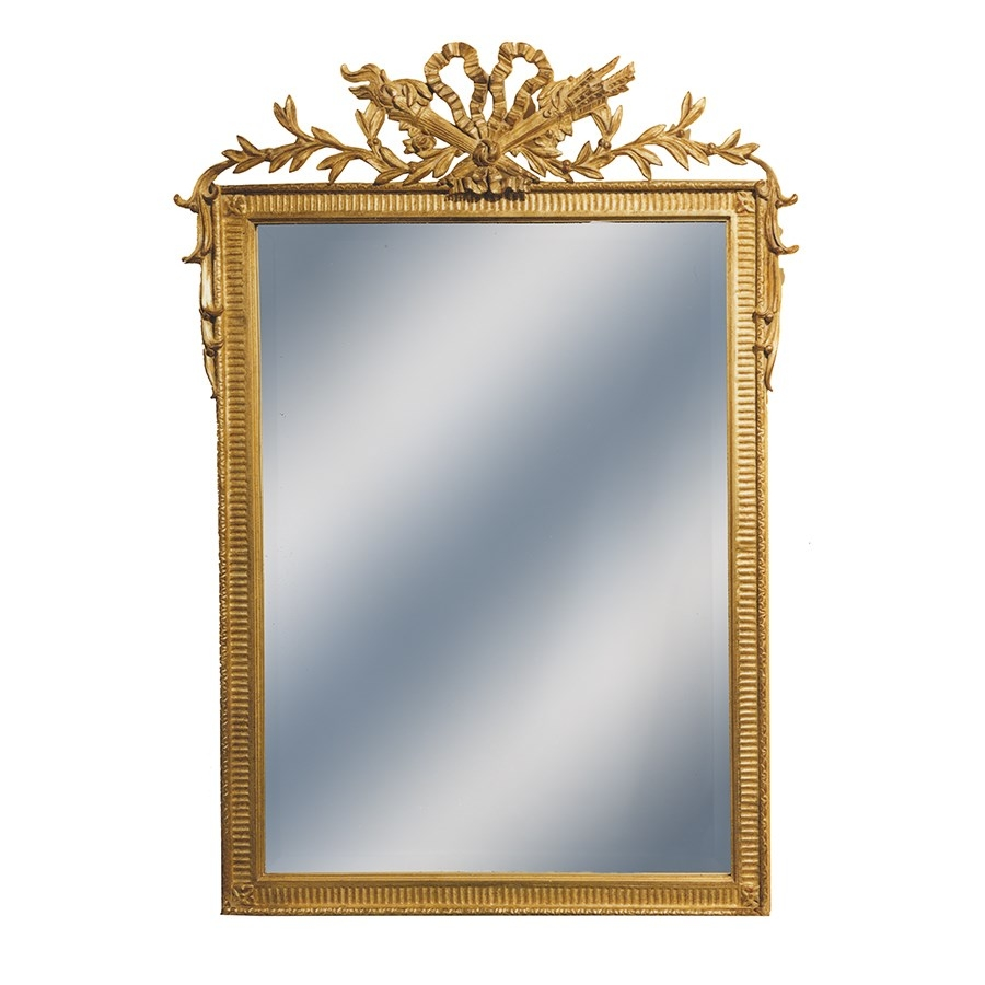 French Hunt Gold Mirror Mirrors Mirrors Home Decor Throughout French Mirrors Reproduction (Image 9 of 15)