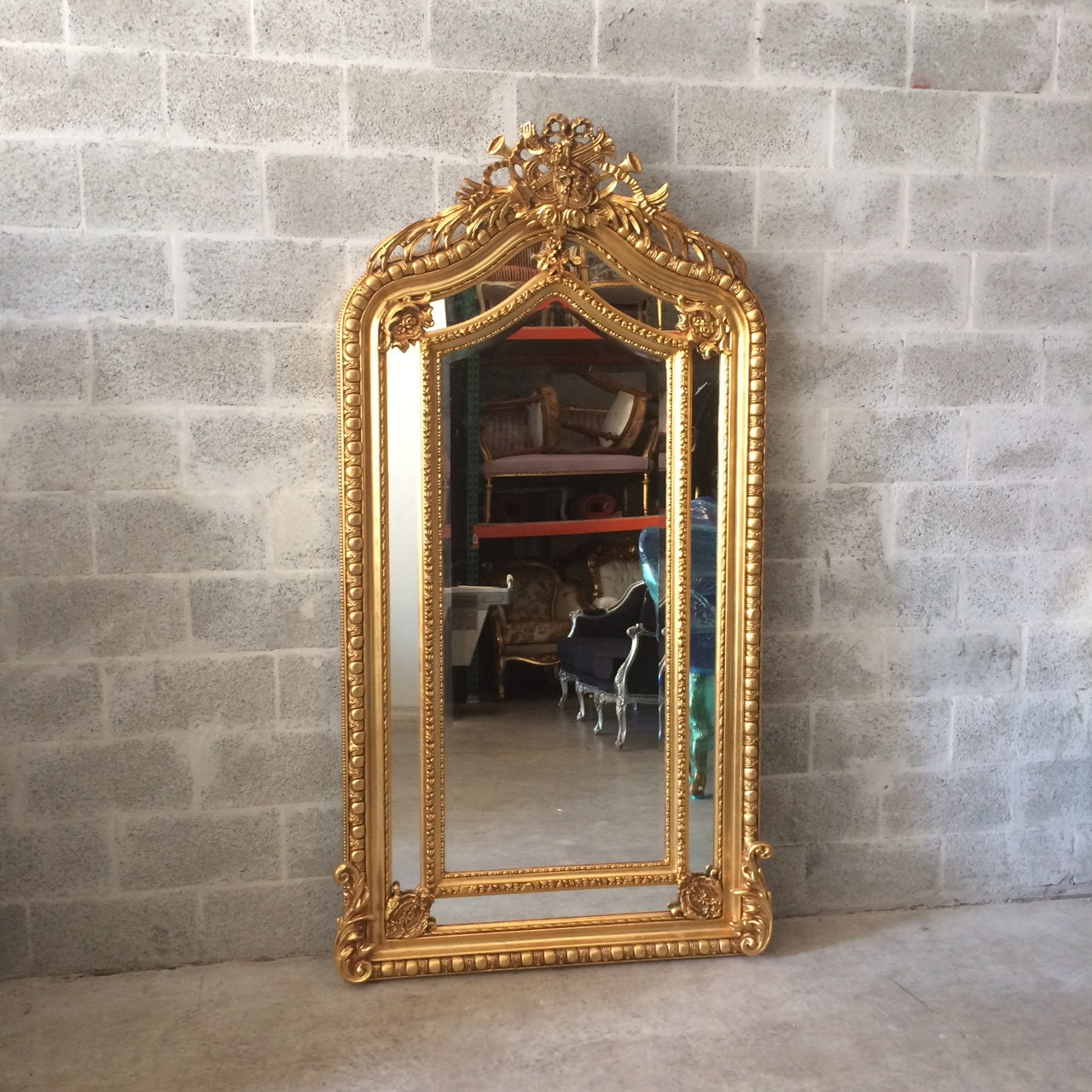 French Mirror Gold Antique Floor Mirror Carved French Furniture Within Antique French Floor Mirror (Image 14 of 15)