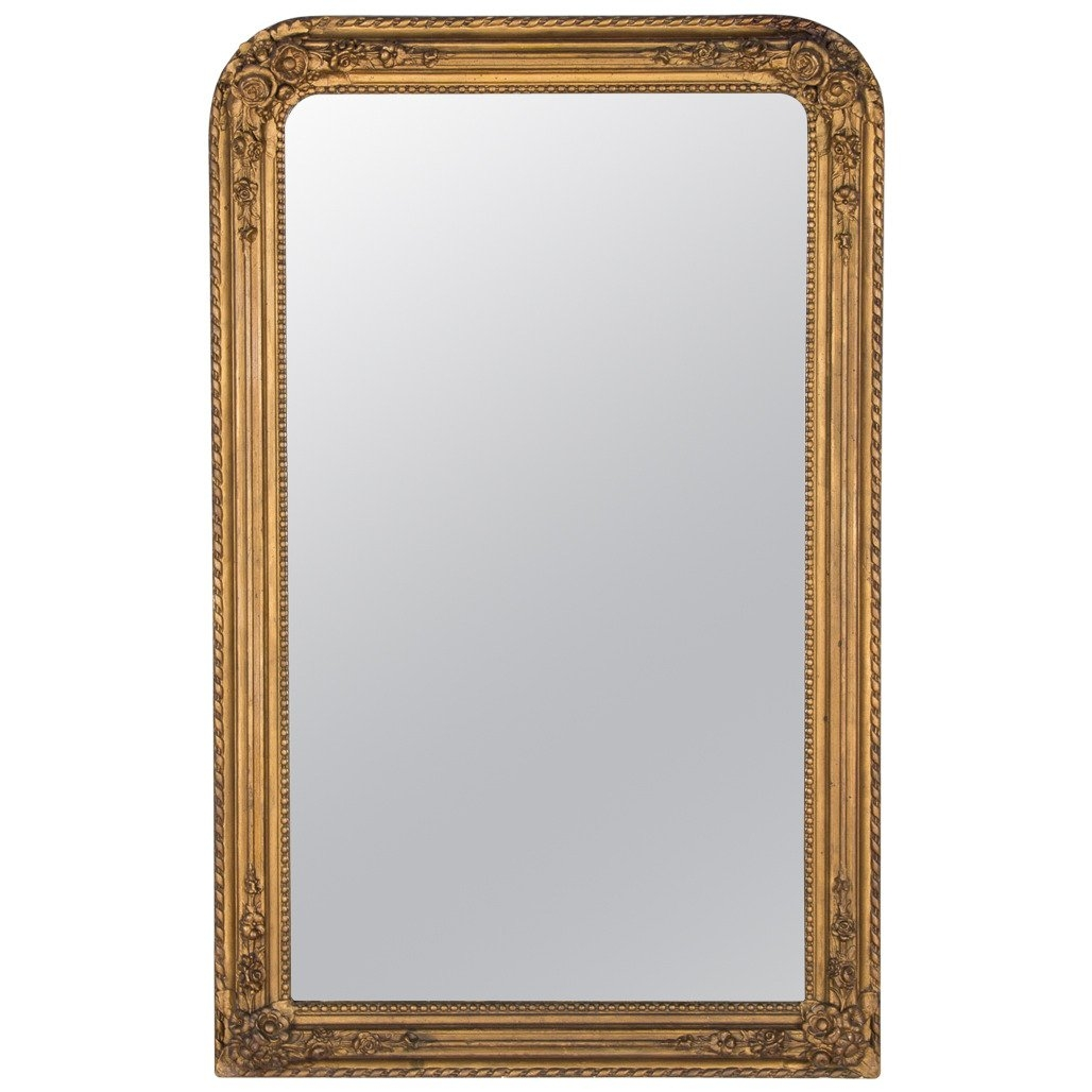 French Napoleon Iii Gilded Mirror 1870s For Sale At 1stdibs For Gilded Mirror (Image 5 of 15)