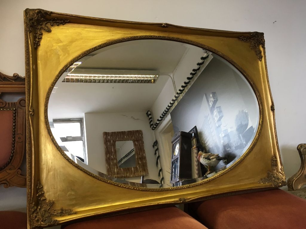 French Ornate Rococo Mirror Over Mantle Mirror Vintage In Gold Mantle Mirror (Image 6 of 15)