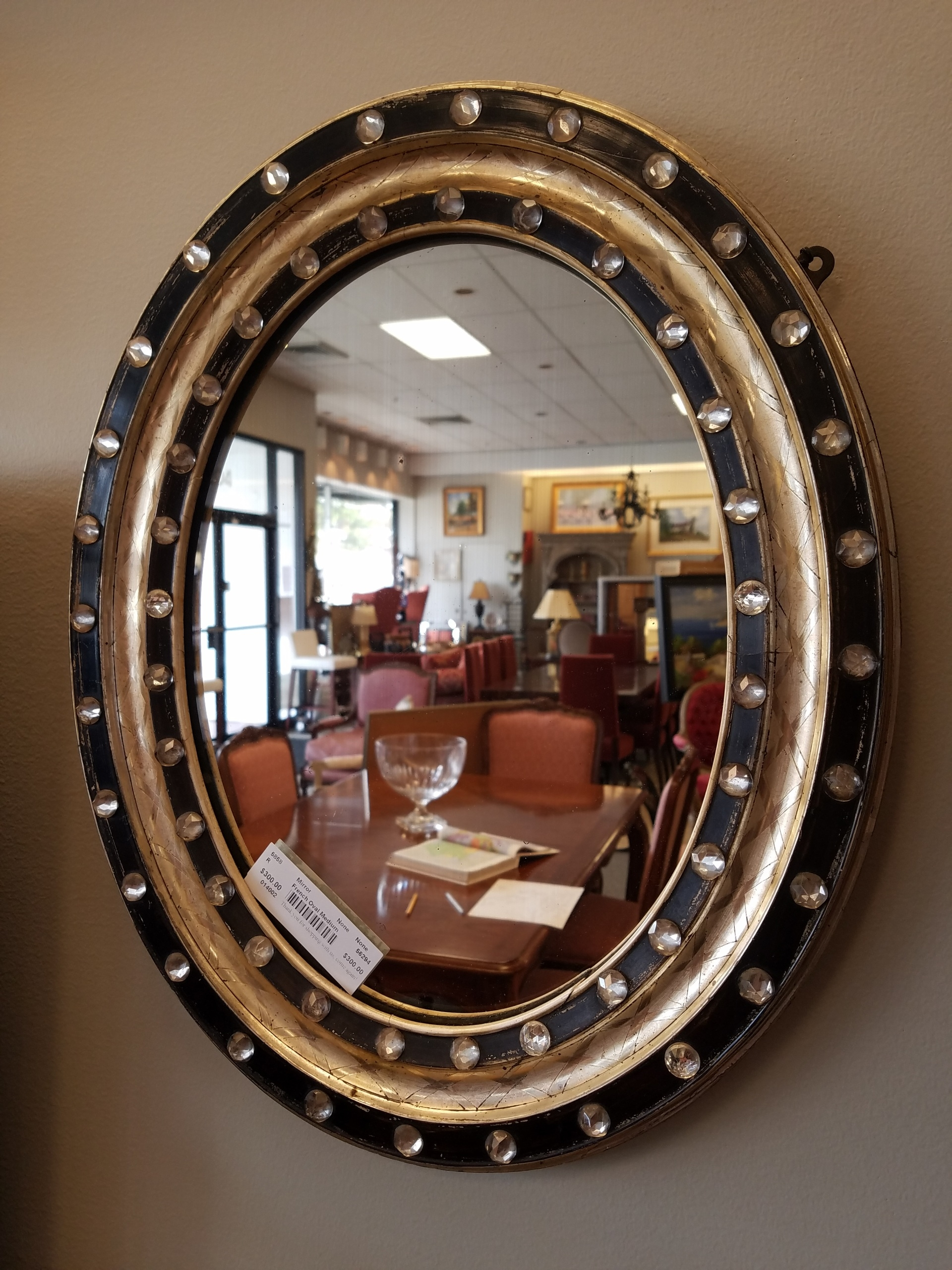 French Oval Mirror Within French Oval Mirror (Image 11 of 15)