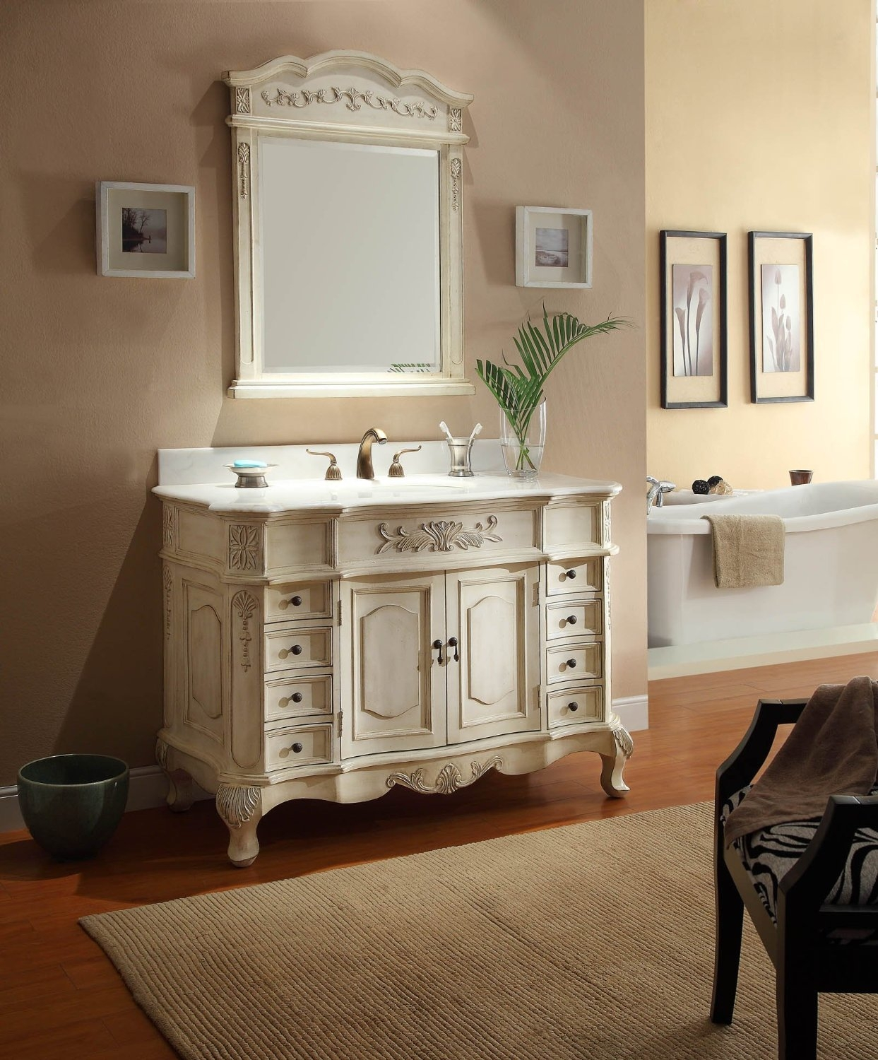 French Country Bathroom Vanities: 15+ French Style Bathroom Mirror