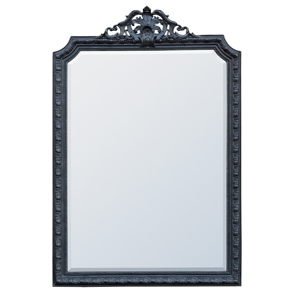 French Rococo Style Mirrors For Black Rococo Mirror (Image 5 of 15)