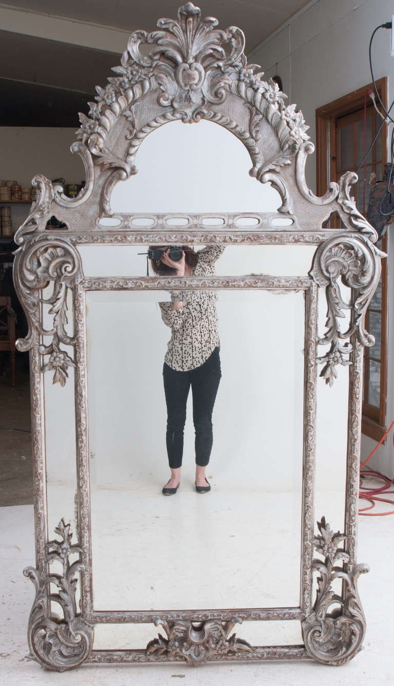 French Silver Gilt Baroque Parclouse Mirror Baroque Antiques Intended For Silver Gilded Mirror (Image 8 of 15)