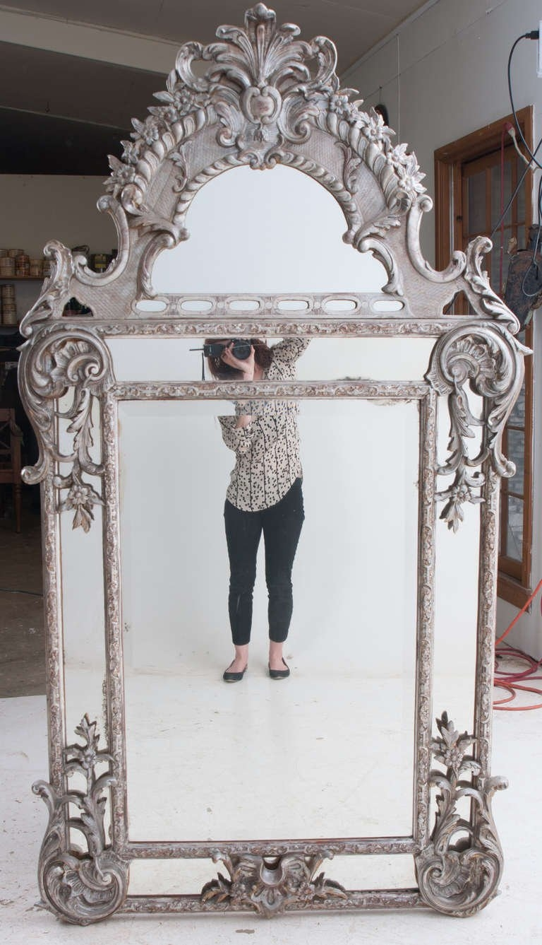 French Silver Gilt Baroque Parclouse Mirror For Sale At 1stdibs For Silver French Mirror (Image 8 of 15)