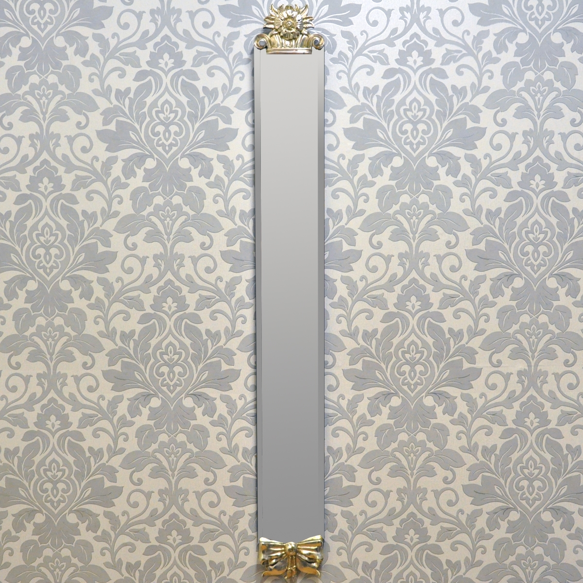 French Style Antique Silver Slim Wall Mirror Mirror Mirror On Within Slim Wall Mirror (Photo 5 of 15)