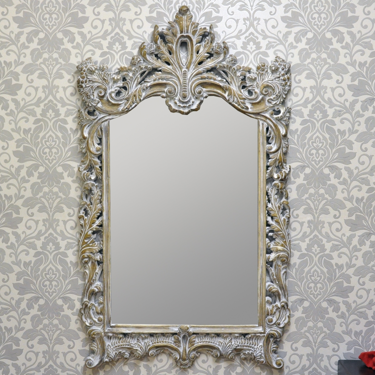 French Style Antique Wash Wall Mirror Acacia Trading Leeds Ltd With Regard To French Style Mirror (View 3 of 15)