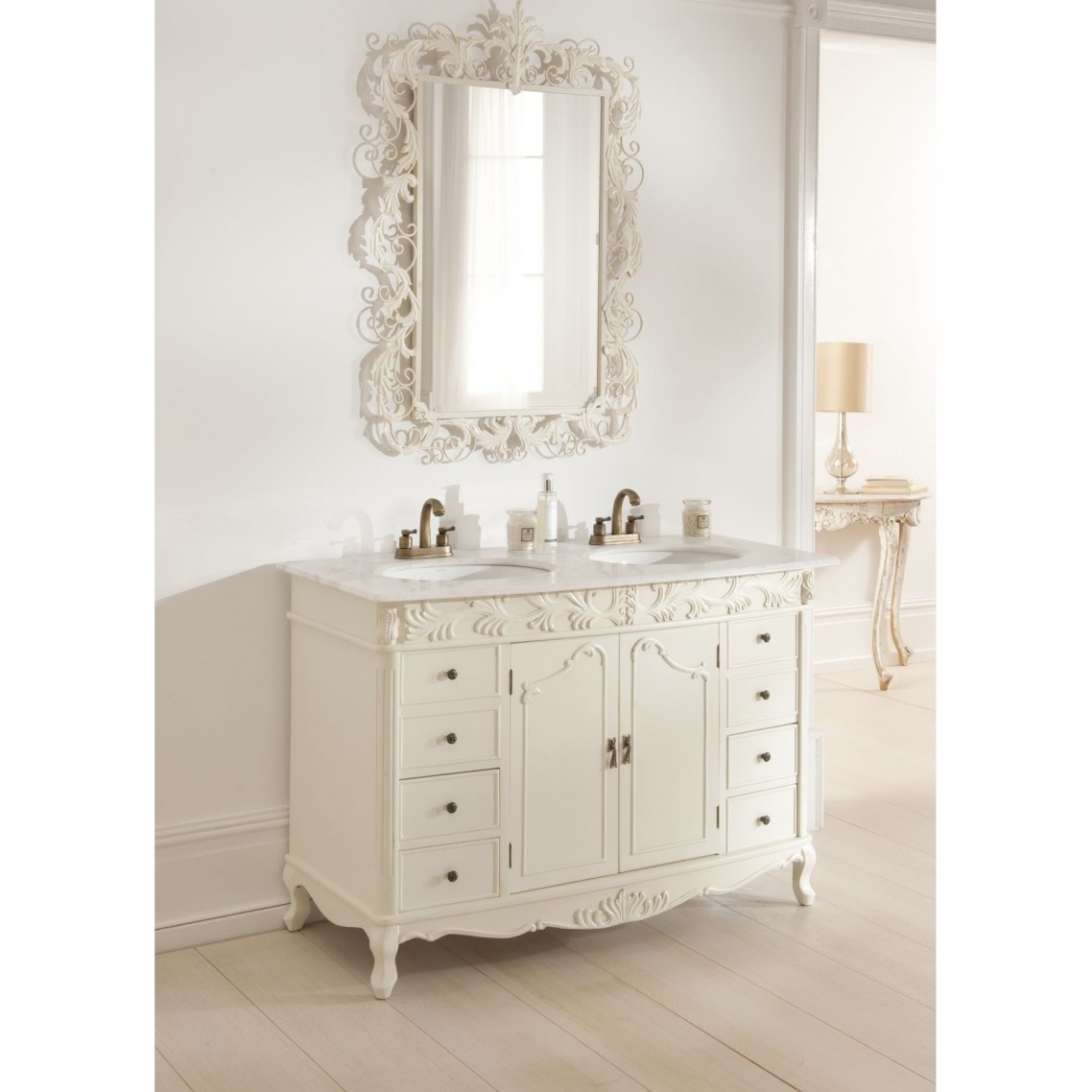 French Style Bathroom Mirrors Home With Regard To French Style Bathroom Mirror (Image 11 of 15)