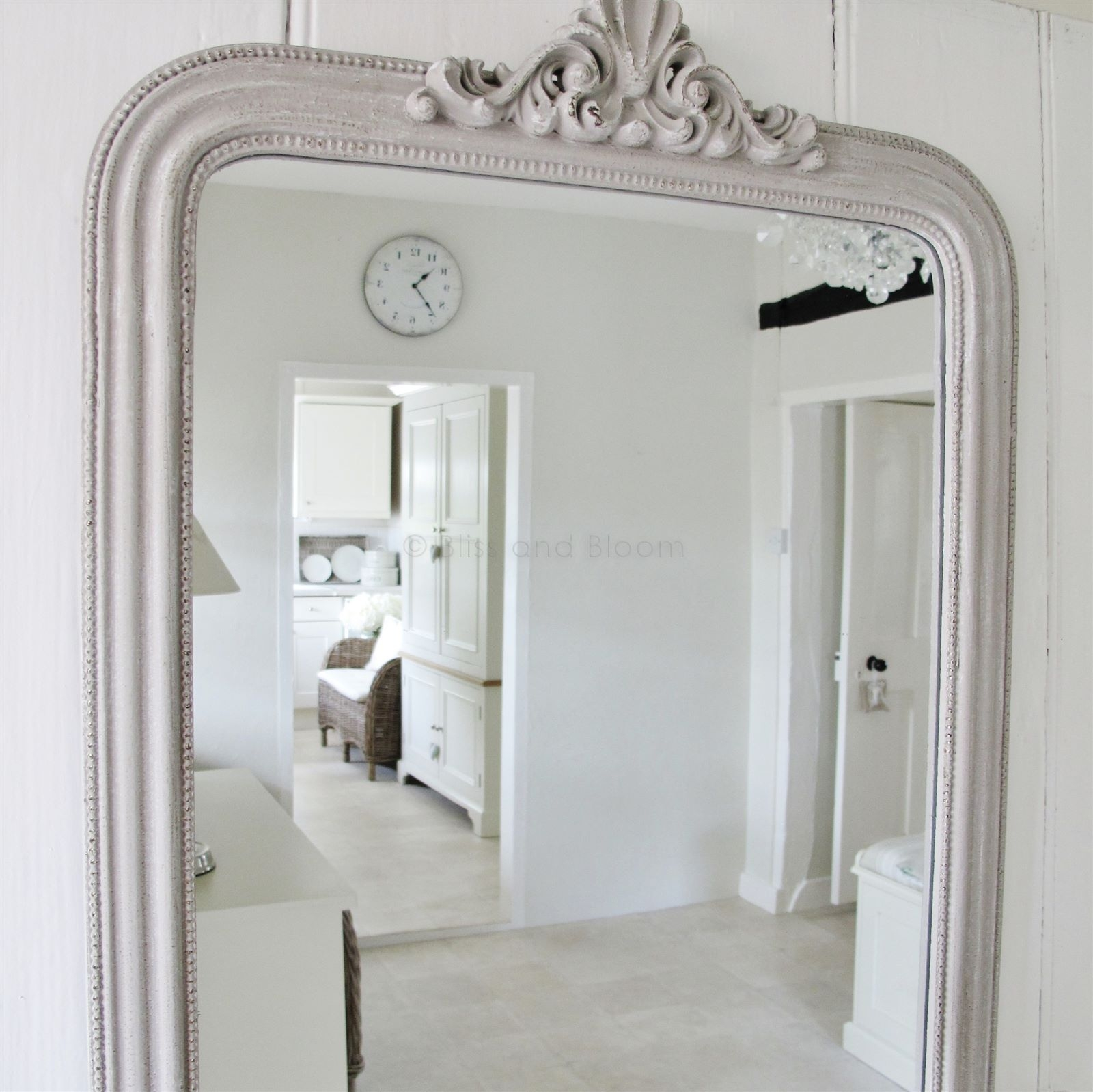 French Style Grey Wall Mirror Bliss And Bloom Ltd Inside French Style Mirror (View 5 of 15)