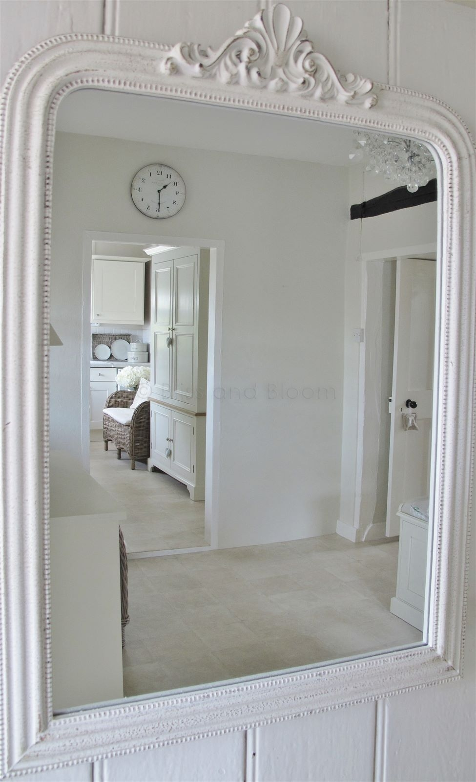 French Style White Wall Mirror Bliss And Bloom Ltd In French White Mirror (Image 3 of 15)