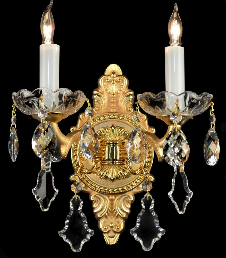 French Wall Sconces Bronze Brass Crystal Glass Chandelier Regarding French Glass Chandelier (Image 11 of 15)