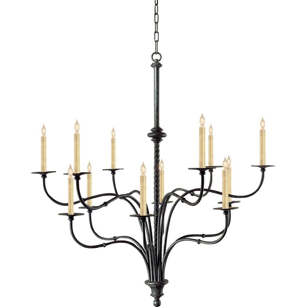 Fresh Black Wrought Iron Chandeliers Sale 20035 Pertaining To Large Iron Chandeliers (Image 8 of 15)