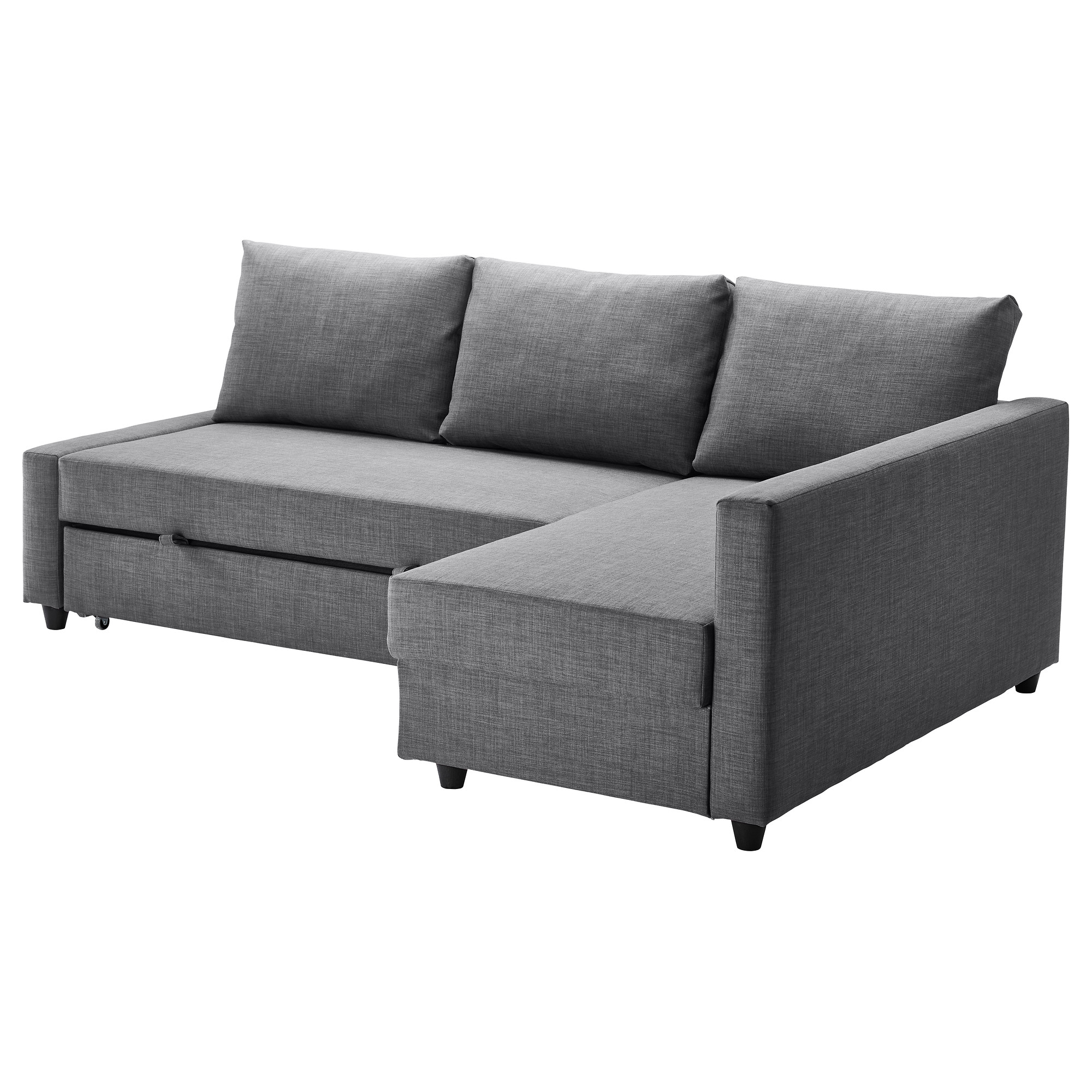 Friheten Corner Sofa Bed With Storage Skiftebo Dark Grey Ikea Regarding Corner Sofa Bed With Storage Ikea (Image 7 of 15)