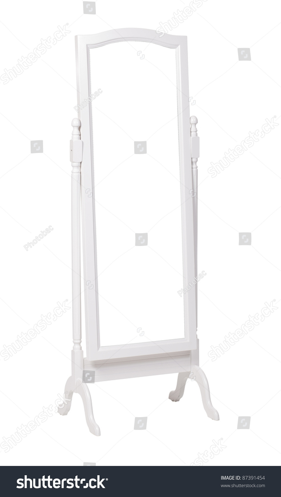 Full Length Dressing Mirror On Stand Stock Photo 87391454 With Full Length Stand Alone Mirrors (Image 11 of 15)