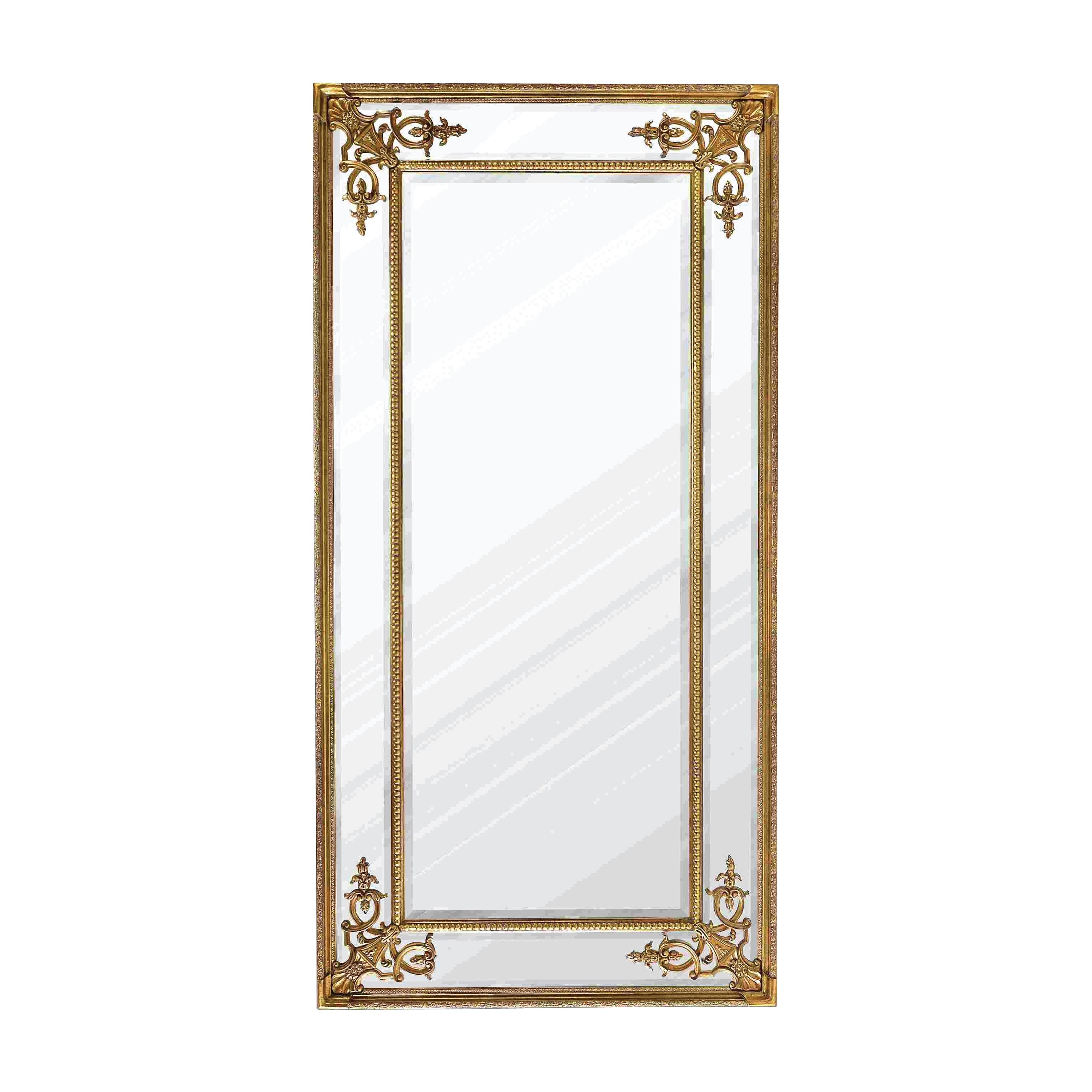Full Length French Mirror In Gold Within French Gold Mirror (Image 7 of 15)