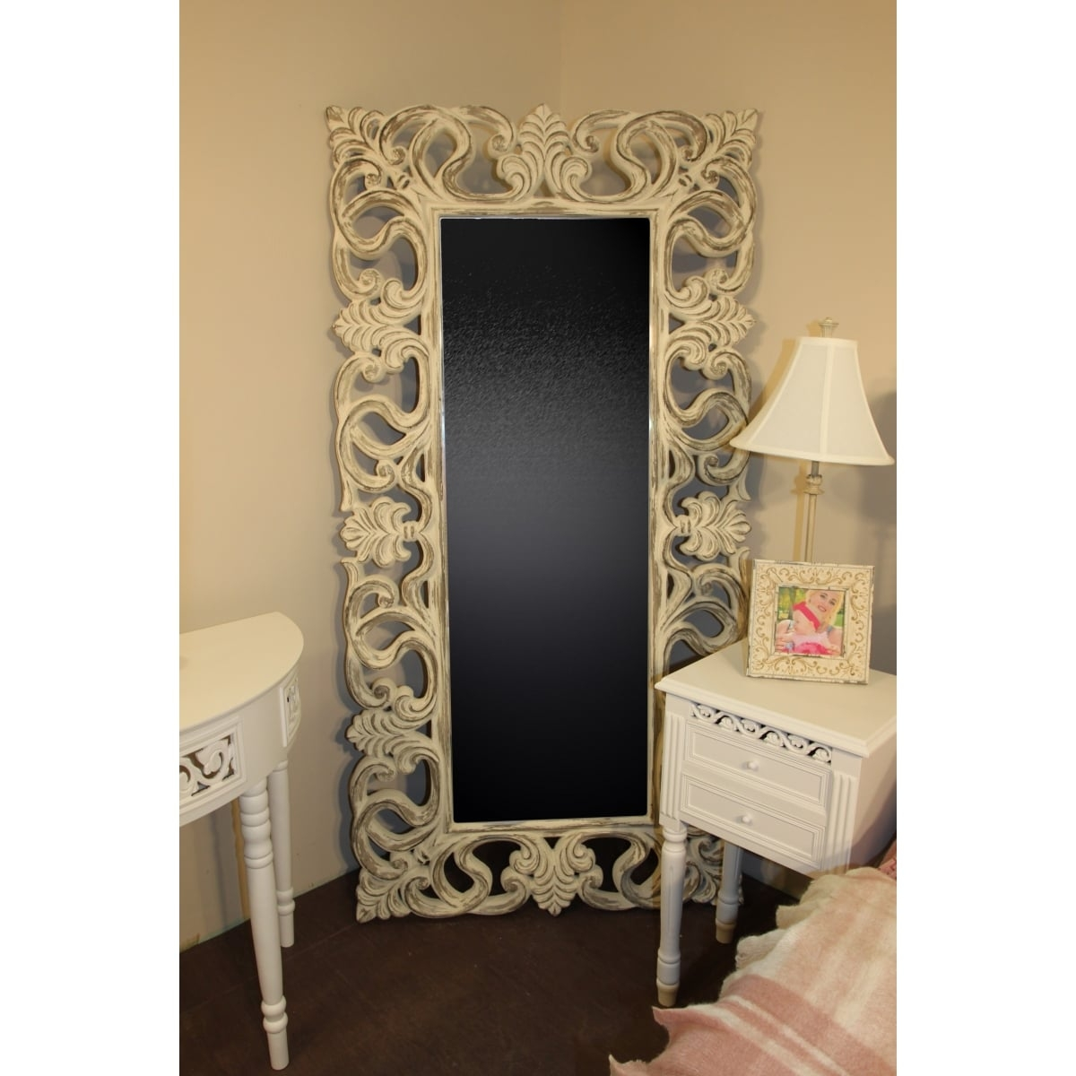 Full Length Mirror Shab Chic Swanky Interiors Throughout Shabby Chic Mirrors Cheap (Image 9 of 15)